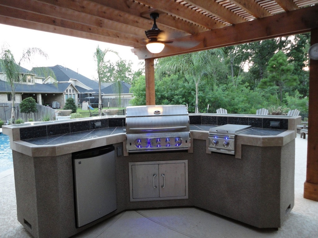 Image of: Image Of Modern Outdoor Kitchen Cabinets Outdoor Kitchen Intended For Outdoor Kitchen Wood Countertops Nice Outdoor Kitchen Wood Countertops Inspiration