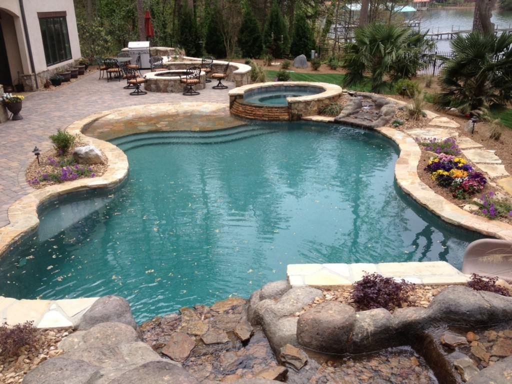Image of: Inground Pool Landscape Designs Ingroundpool Landscape Designs Pertaining To Inground Pool Landscaping Inground Pool Landscaping Ideas