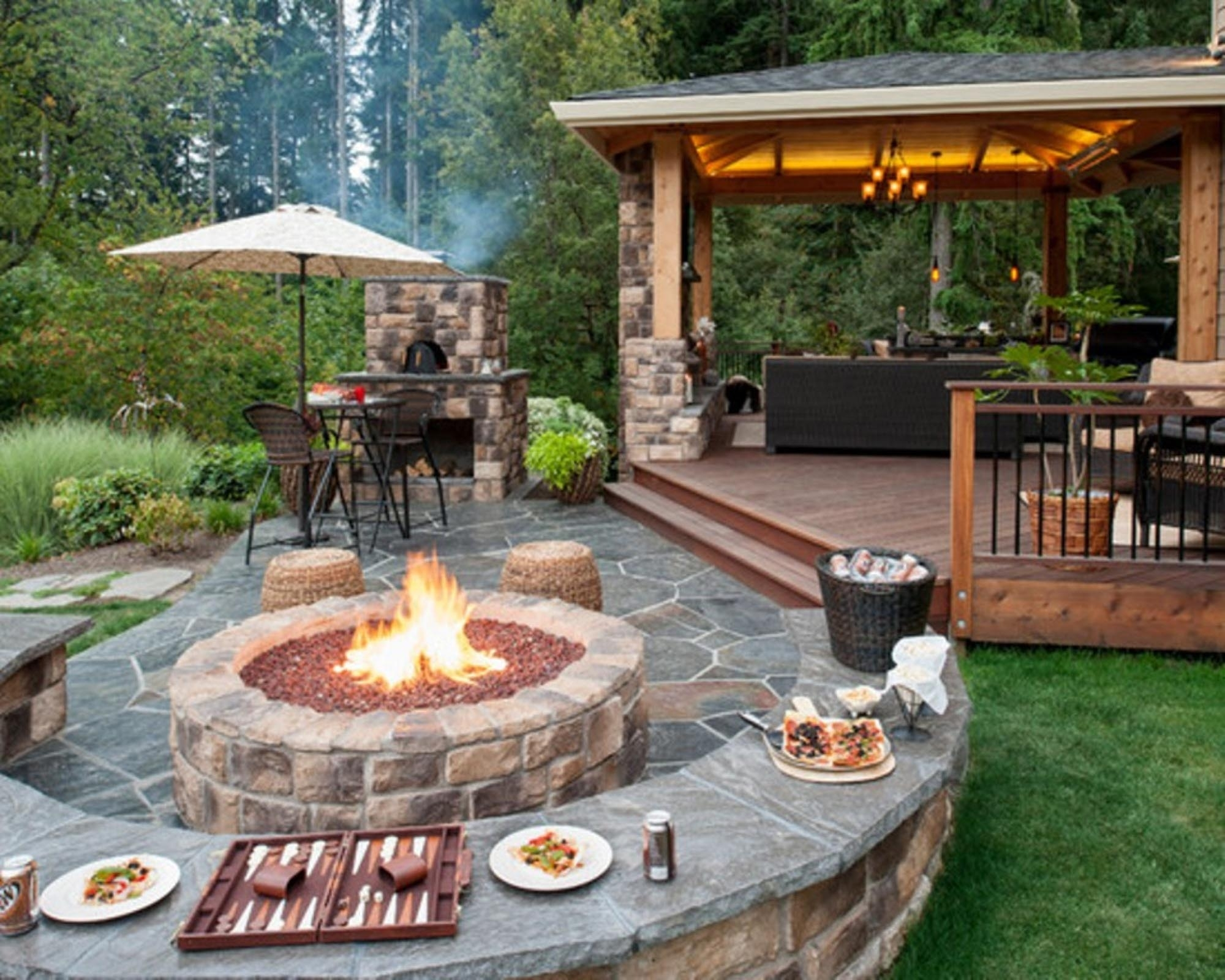 Image of: Inspiration Idea Outdoor Patio Fireplace Designs Inside Unique Outdoor Fireplaces Grill Diy Unique Outdoor Fireplaces Grill