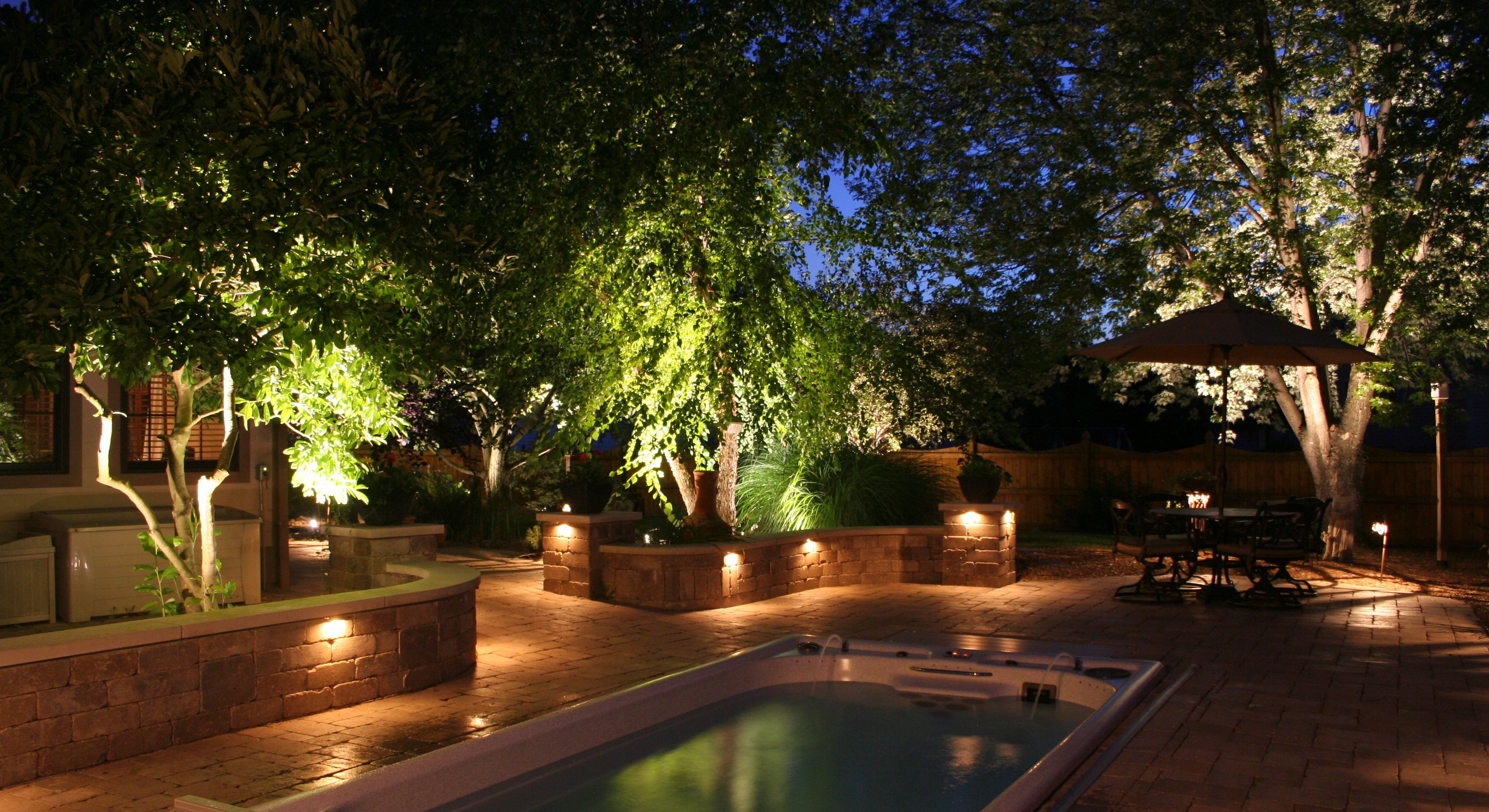Image of: Kichler Lighting Magnificence Kichler Landscape Lighting With Within Outdoor Lighting Designs Outdoor Lighting Designs In Facades