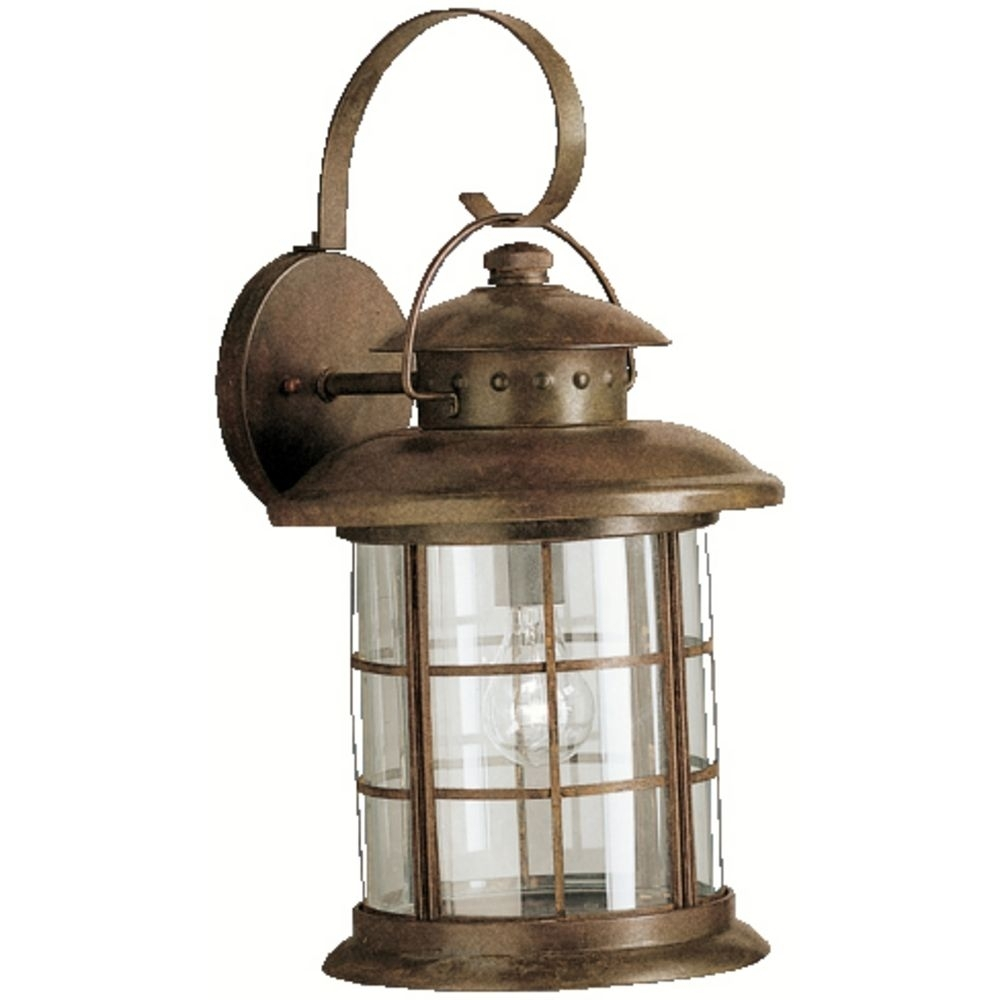 Image of: Rustic Kichler Outdoor Wall Lighting