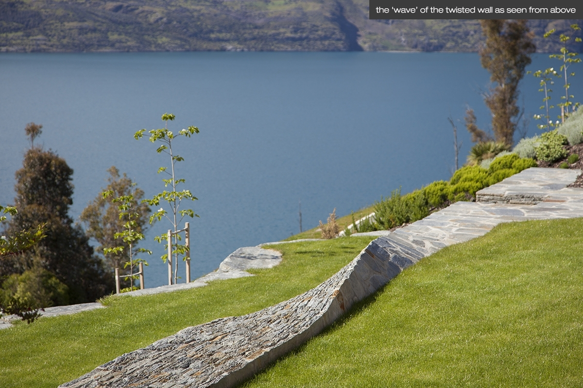 Image of: Land Landscape Architects Queenstown Residential Garden Design Regarding Lakeside Landscaping Latest Trends In Lakeside Landscaping