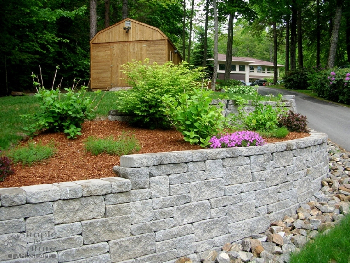 Image of: Landscape Bricks Around Treesame Color As On The House Filled Within Bricks For Landscaping Edge Bricks For Landscaping Ideas