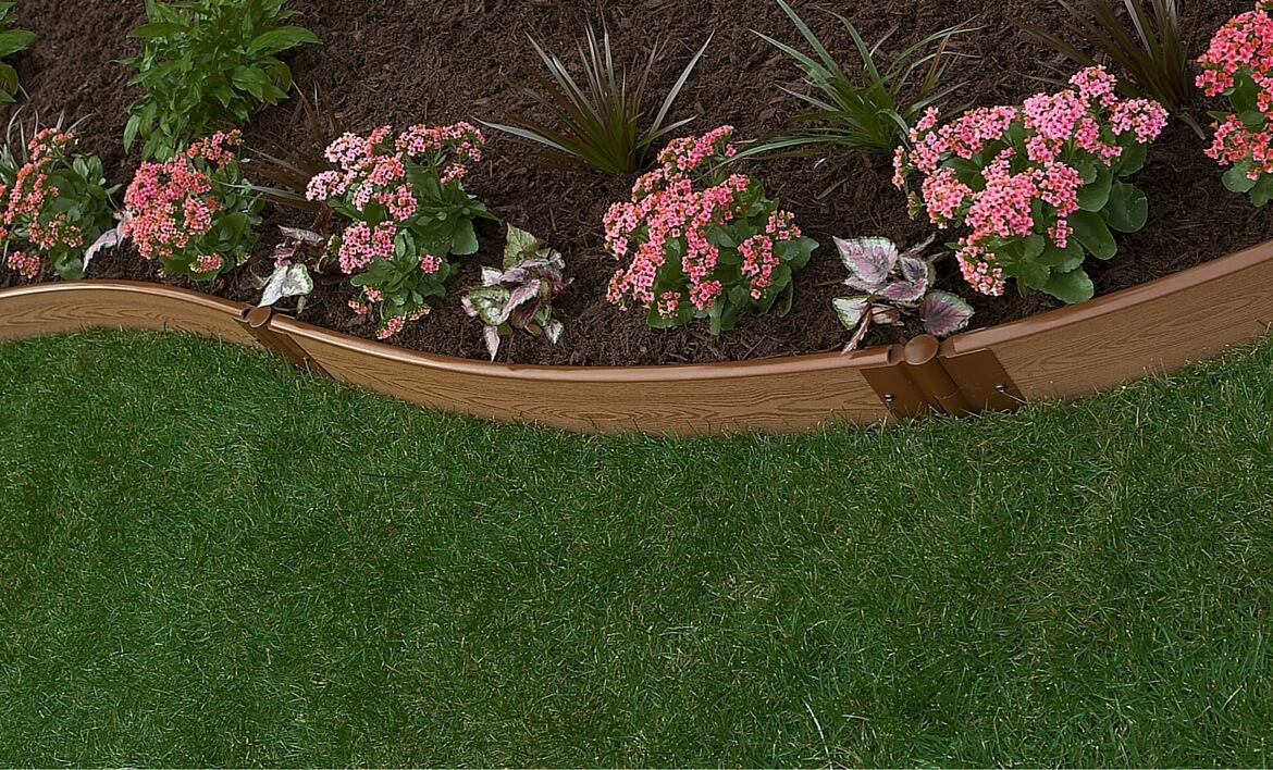 Image of: A Slope Landscape Edging Intended For Landscape Metal Edging Garden