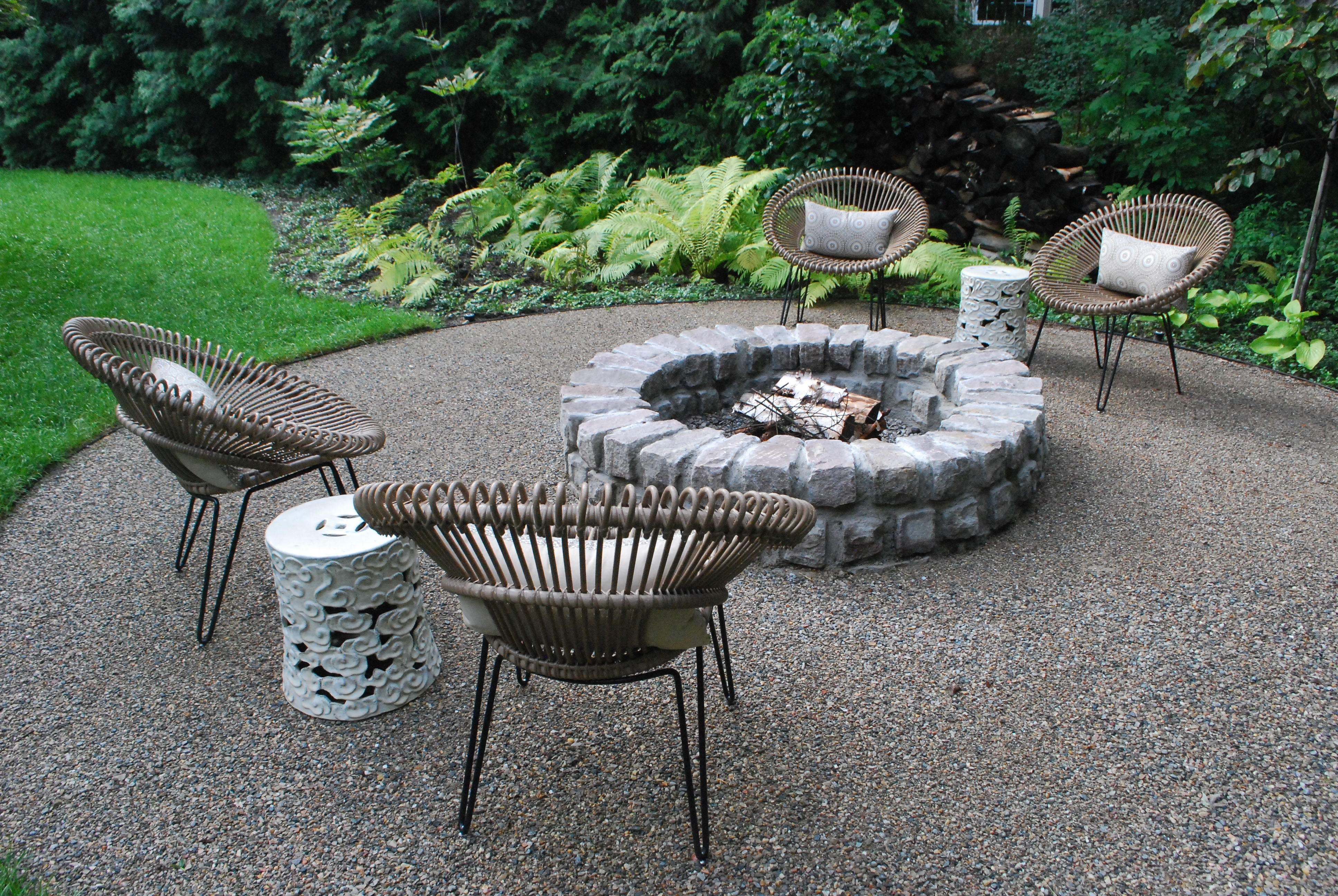 Image of: Landscape Tasty Mulch Ideas For Landscaping In Square Fire Pit Regarding Landscape Fire Pits Fireplaces Landscape Fire Pits