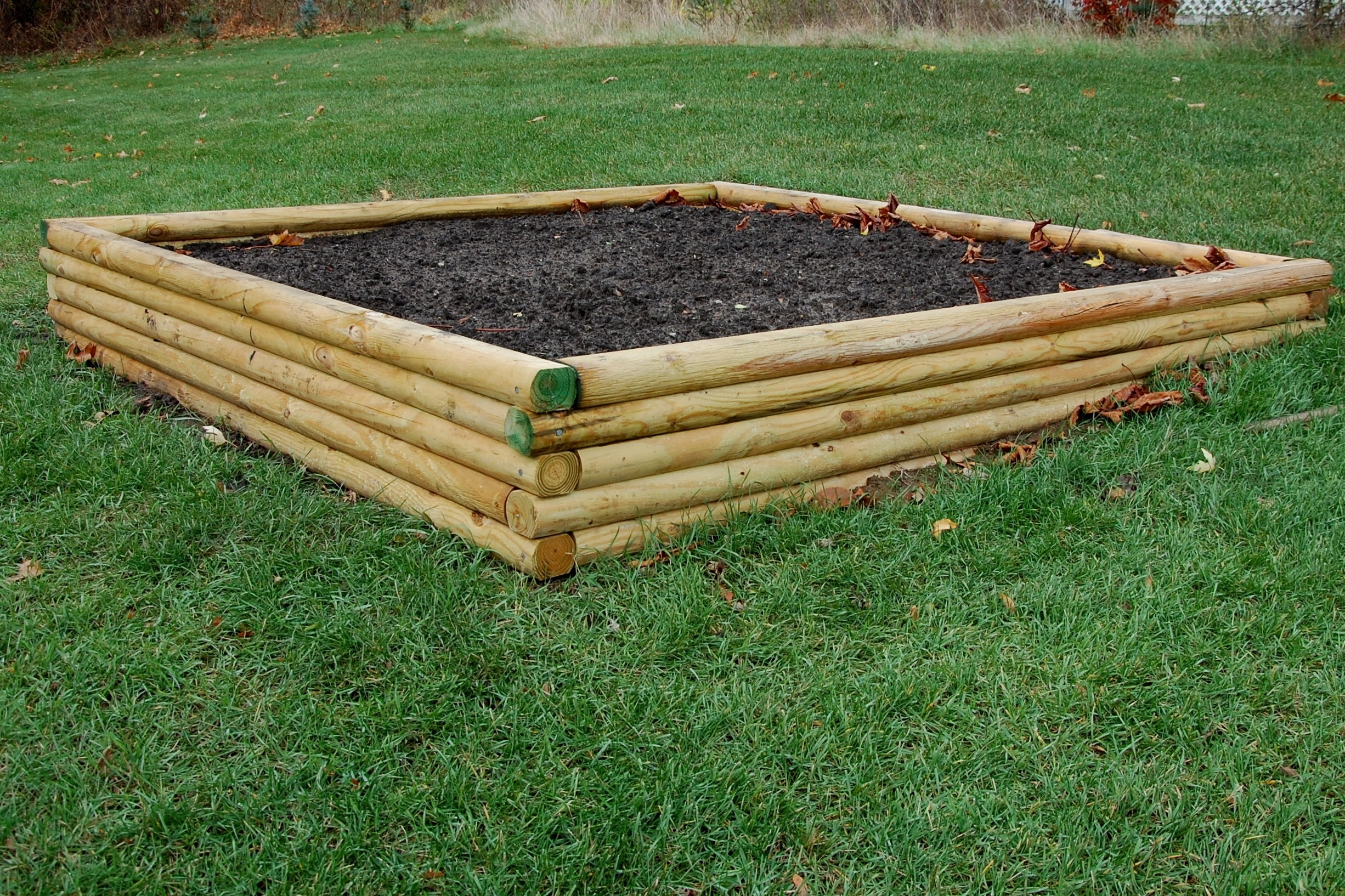 Image of: Landscape Timbers Raised Bed 1 Home Decor I Furniture With Regard To Landscape Timber Spikes Design Landscape Timber Spikes