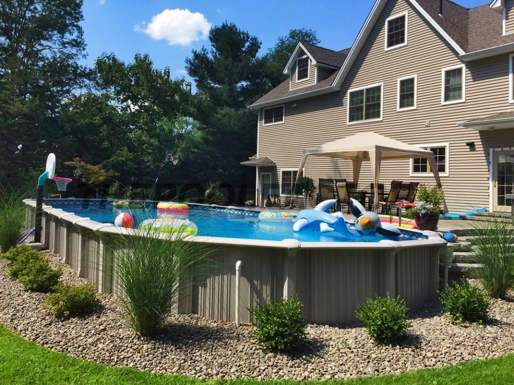 Image of: Landscaping Around Your Above Ground Pool Intended For Above Ground Pool Landscaping Ideas Above Ground Pool Landscaping