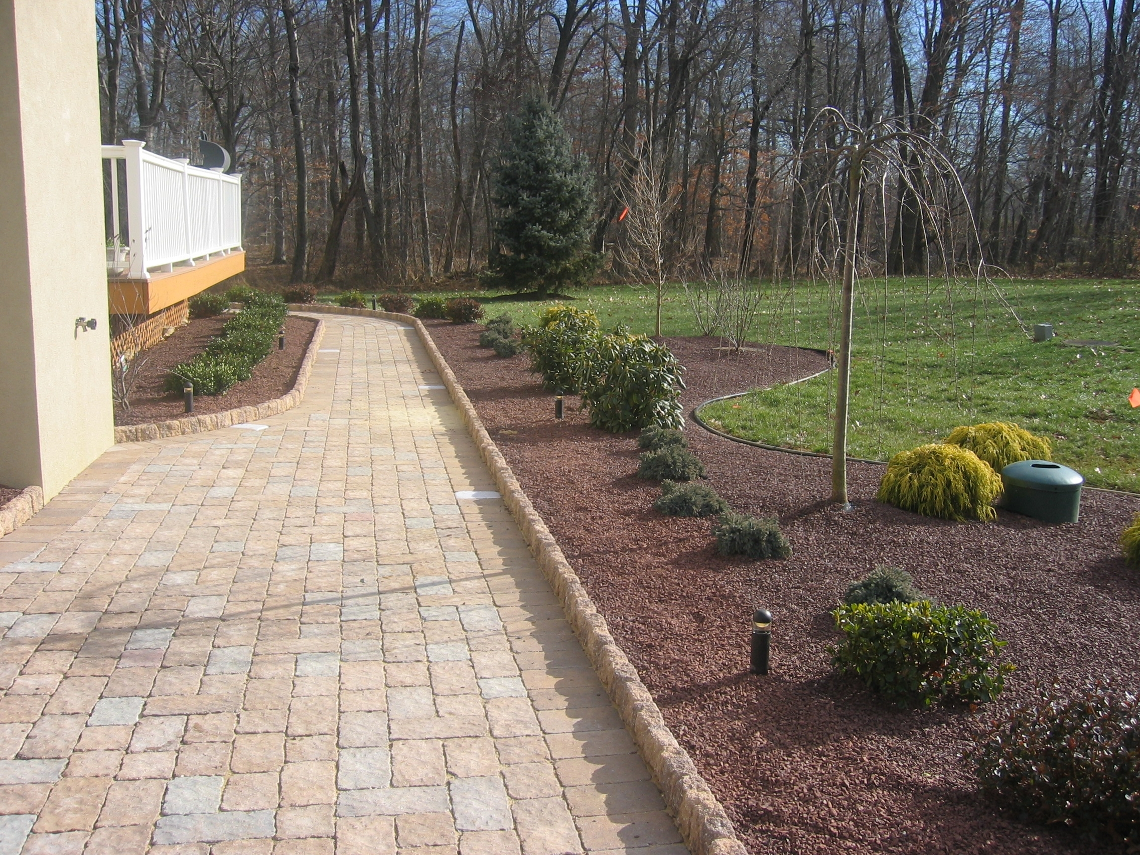 Image of: Landscaping For Sidewalks Driveway And Pathway Ideas Pictures With Front Sidewalk Landscaping Ideas How Lay Front Sidewalk Landscaping Ideas