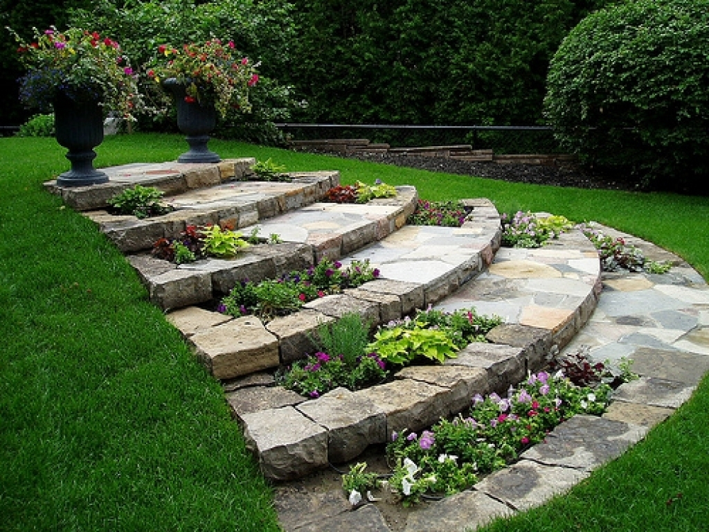 Image of: Landscaping Ideas For Small Slopes Full Shade Garden Ideas With Within Landscaping Ideas For Slopes Attractive Landscaping Ideas For Slopes
