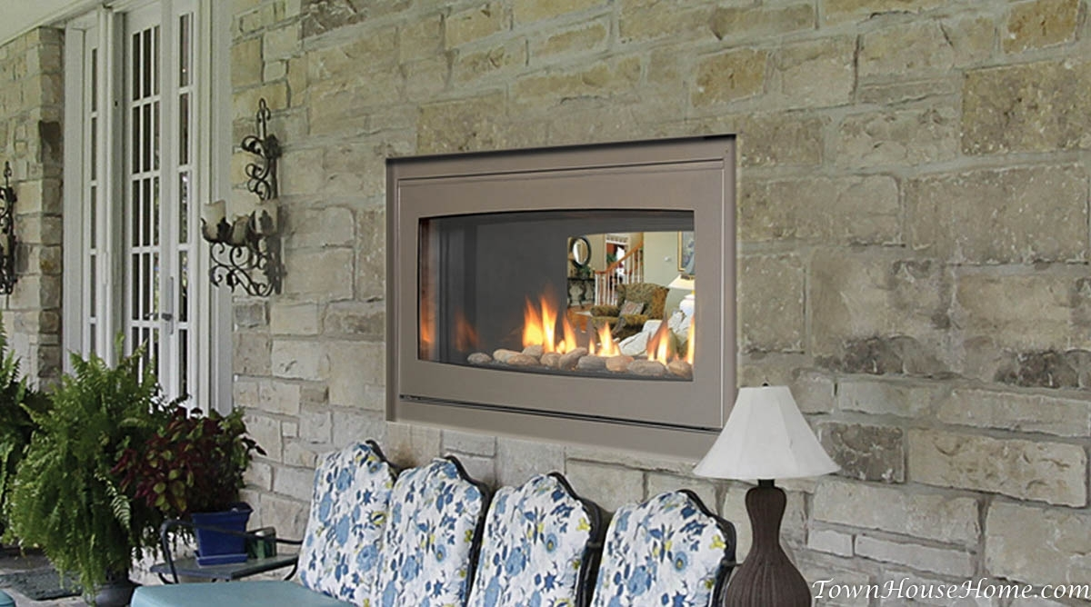 Image of: Lets Talk Fire Townhousehome Inside Indoor Outdoor Fireplace Gas Indoor Outdoor Fireplace Gas Style
