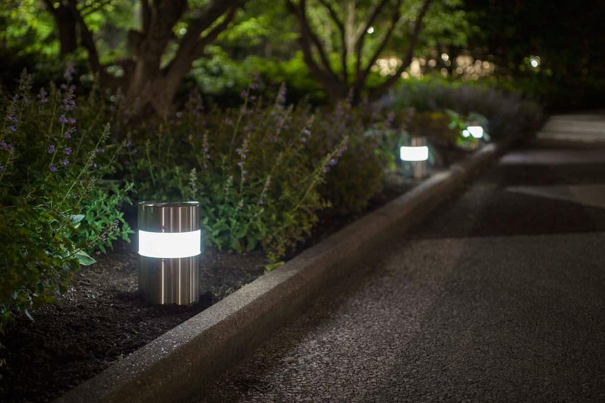 Image of: Light Column Pathway Outdoor Bollard Lighting Style