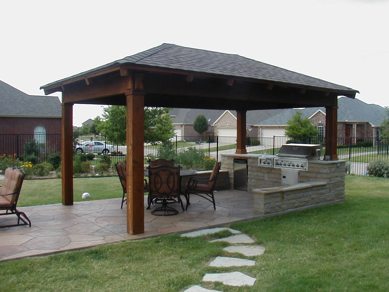 Image of: Lovely Outdoor Kitchens Pictures Home Furniture And Decor Pertaining To Outdoor Kitchen Roofs Outdoor Kitchen Roofs Painting