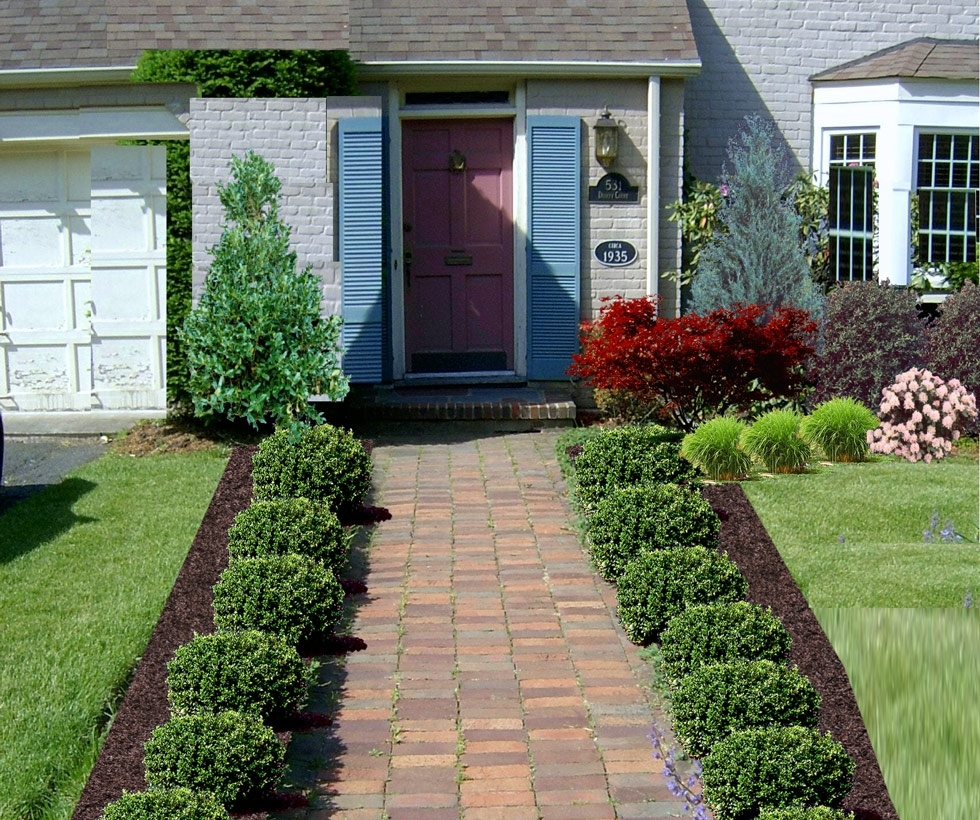 Image of: Low Maintenance Front Yard Landscaping Low Maintenance Throughout Front Yard Landscaping Plans Smart Front Yard Landscaping Plans