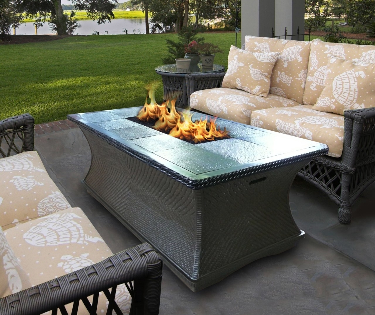 Image of: Lowes Canada Outdoor Propane Fire Pit Table Rectangular Stainless Throughout Outdoor Stainless Steel Furniture Great Outdoor Stainless Steel Furniture