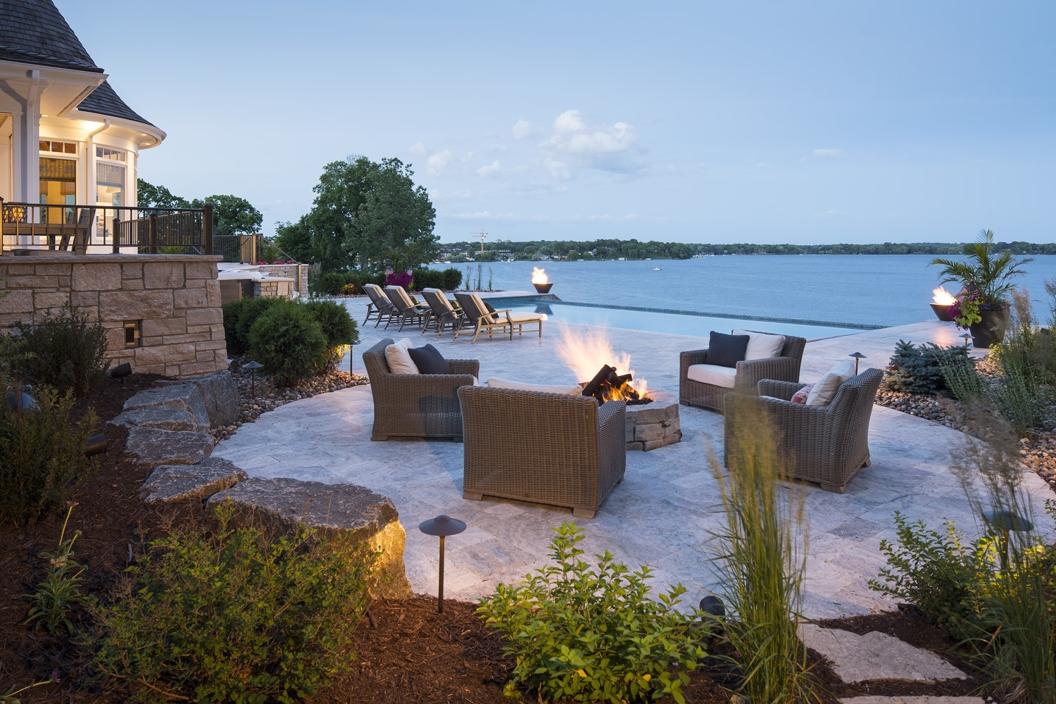 Image of: Luxury Landscape Design And Construction Southview Design Within Lakeside Landscaping Latest Trends In Lakeside Landscaping