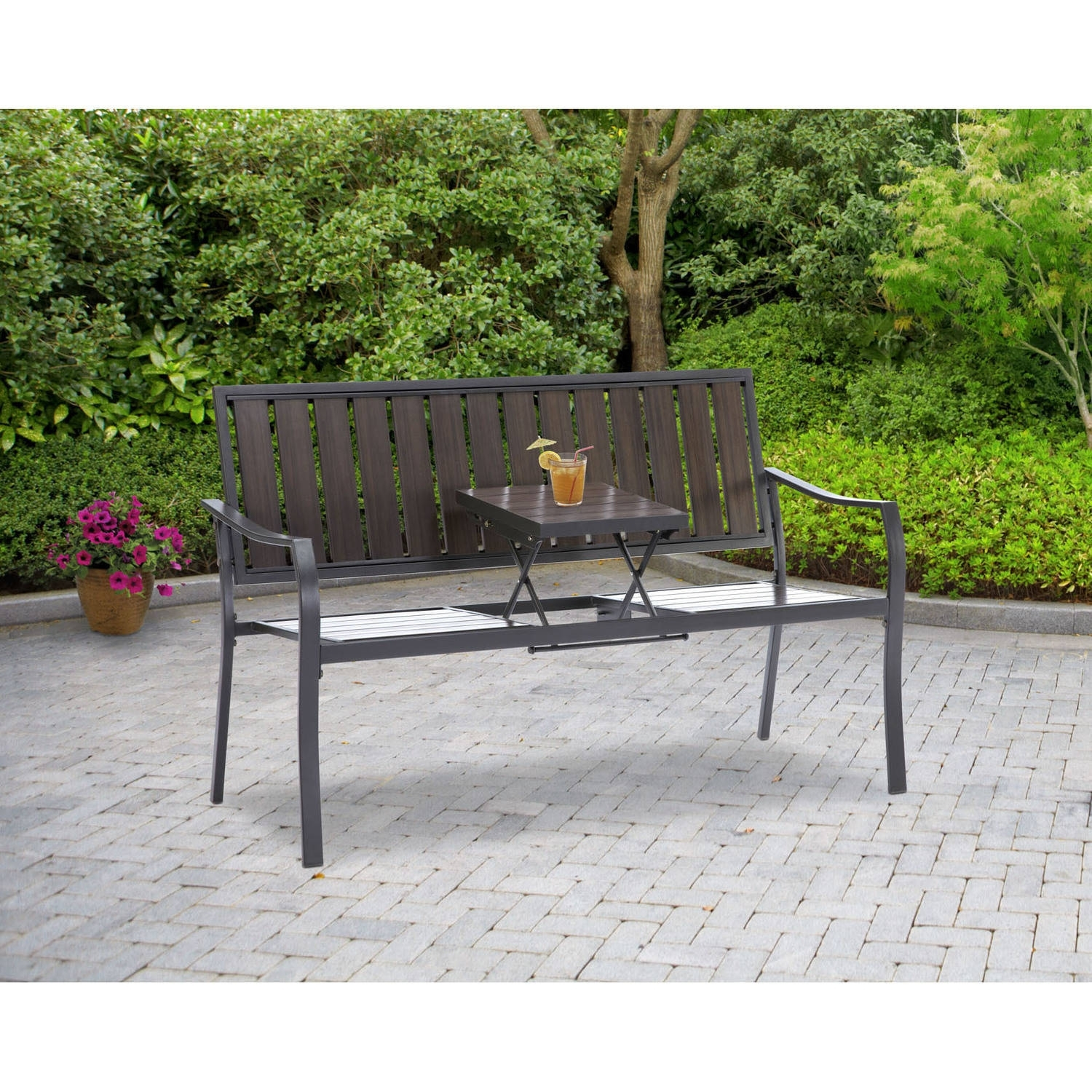 Image of: Metal Outdoor Benches Inside Expanded Metal Outdoor Furniture Ideas