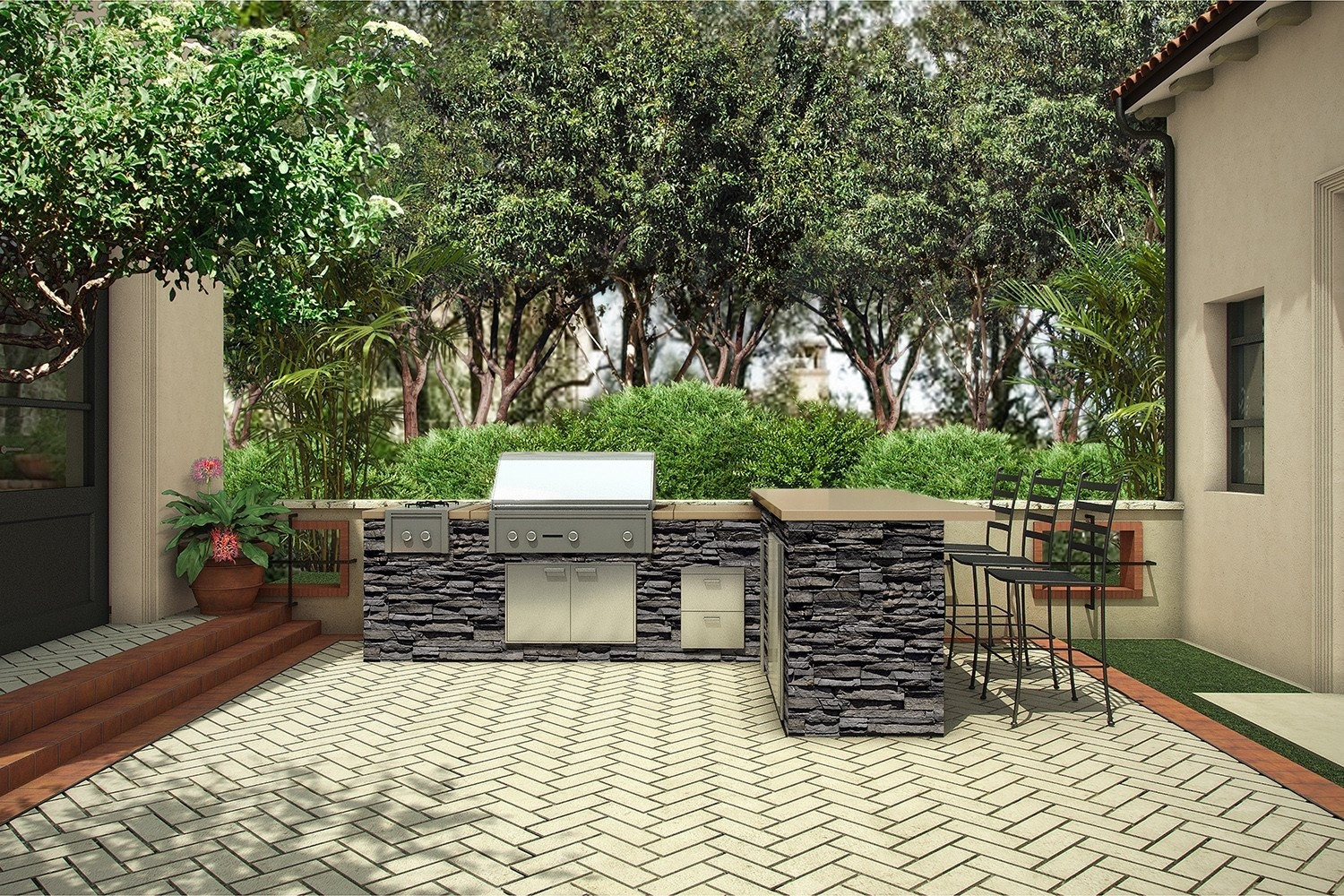 Image of: Metropolitan Signature Kitchen Eldorado Stone Within Eldorado Stone Outdoor Kitchen Eldorado Stone Outdoor Kitchen