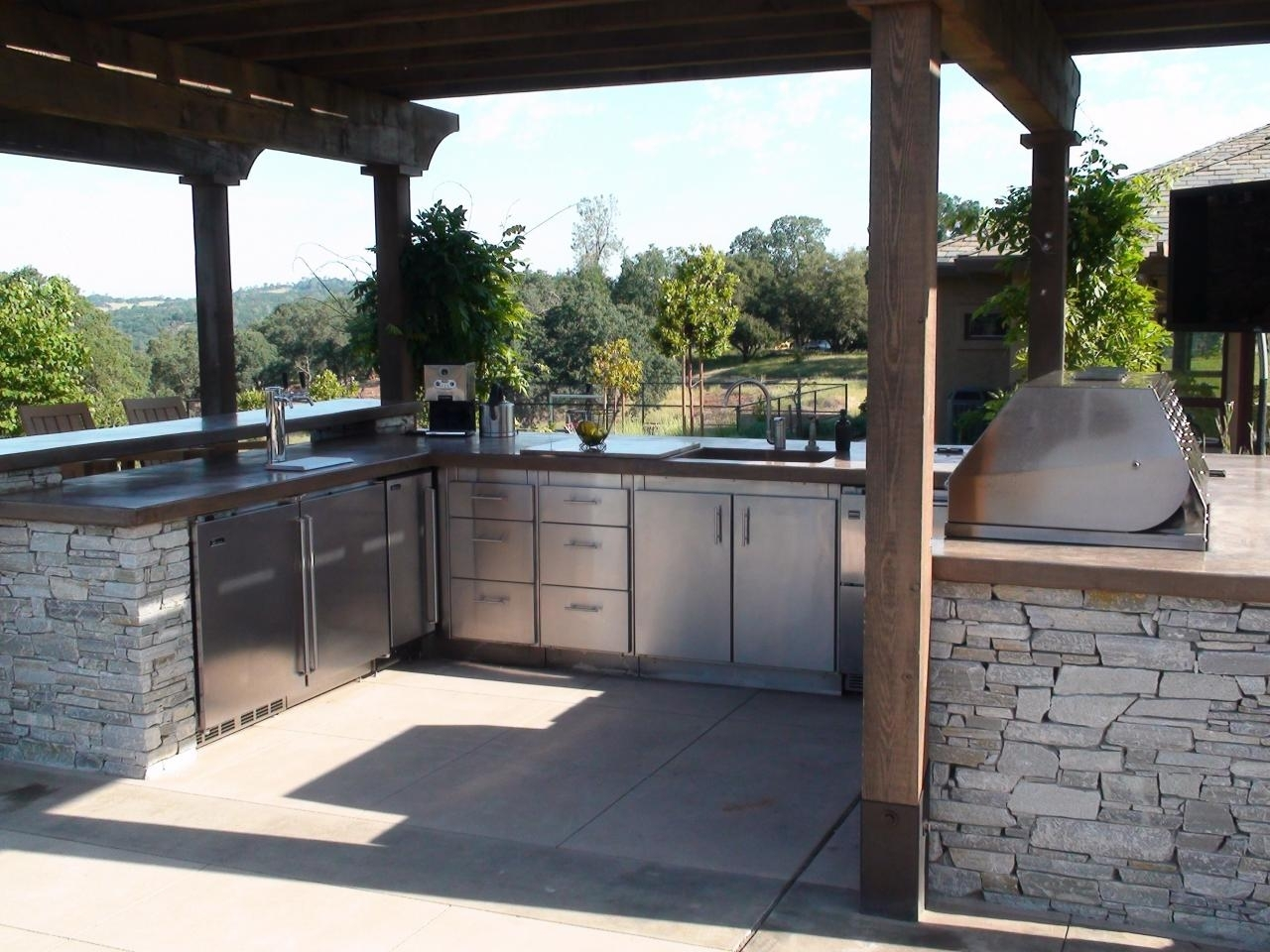 Mixing Kitchen Cabinet Styles And Finishes Hgtv Throughout Outdoor Kitchen Wood Countertops Nice Outdoor Kitchen Wood Countertops Inspiration