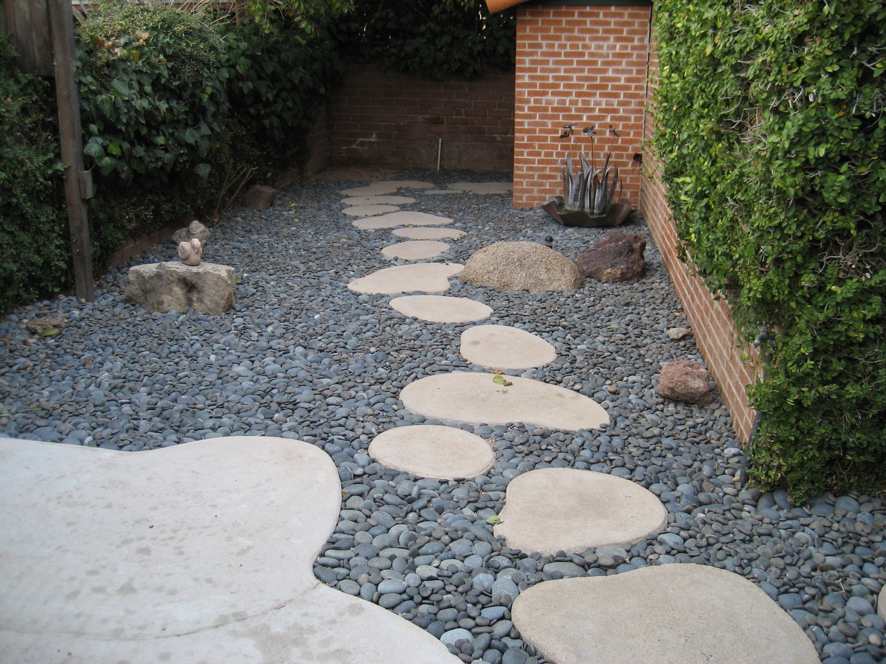 Image of: Modern Concep Beauty Landscape Stepping Stones