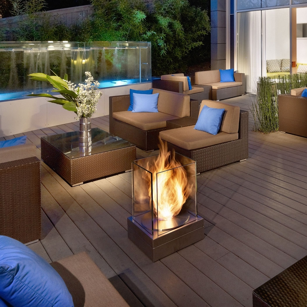Image of: Modern Interior Design Minit Modern Square Steel And Glass For Bio Ethanol Outdoor Fireplace Wonderful Bio Ethanol Outdoor Fireplace