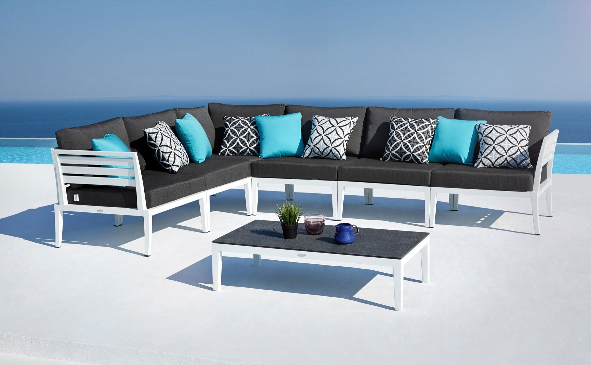 Image of: Modern Outdoor Lounge Furniture Set Joins Oceanweave Collection With Regard To Outdoor Lounge Furniture Modern Outdoor Lounge Furniture Modern Design