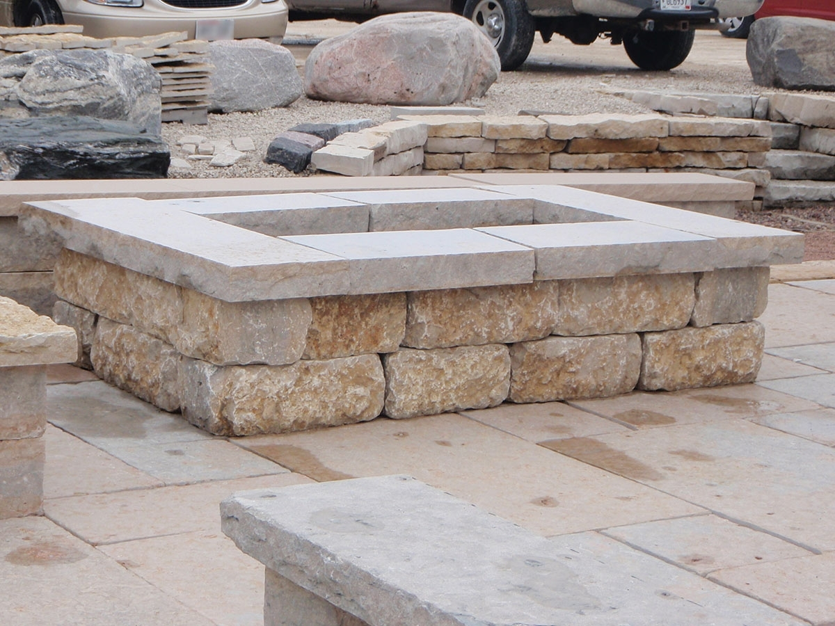 Image of: Natural Stone Fire Pit Kits Or Custom Designs Lemke Stone Products With Regard To Landscape Fire Pits Fireplaces Landscape Fire Pits