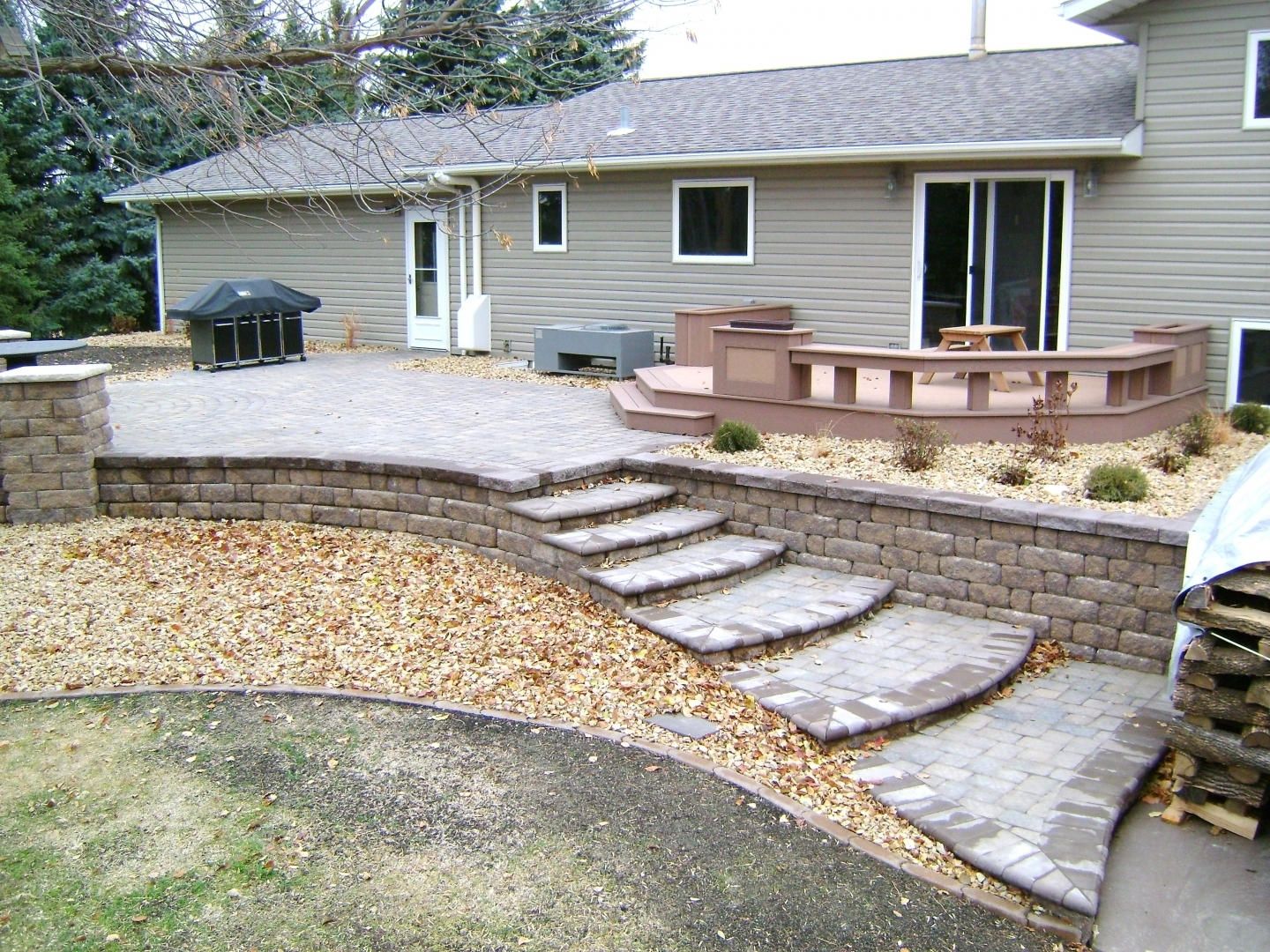 Image of: Oasis Landscapes Landscaping In Fargo Nd Surrounding Area Intended For Hardscape Landscaping Hardscape Landscaping A Hill