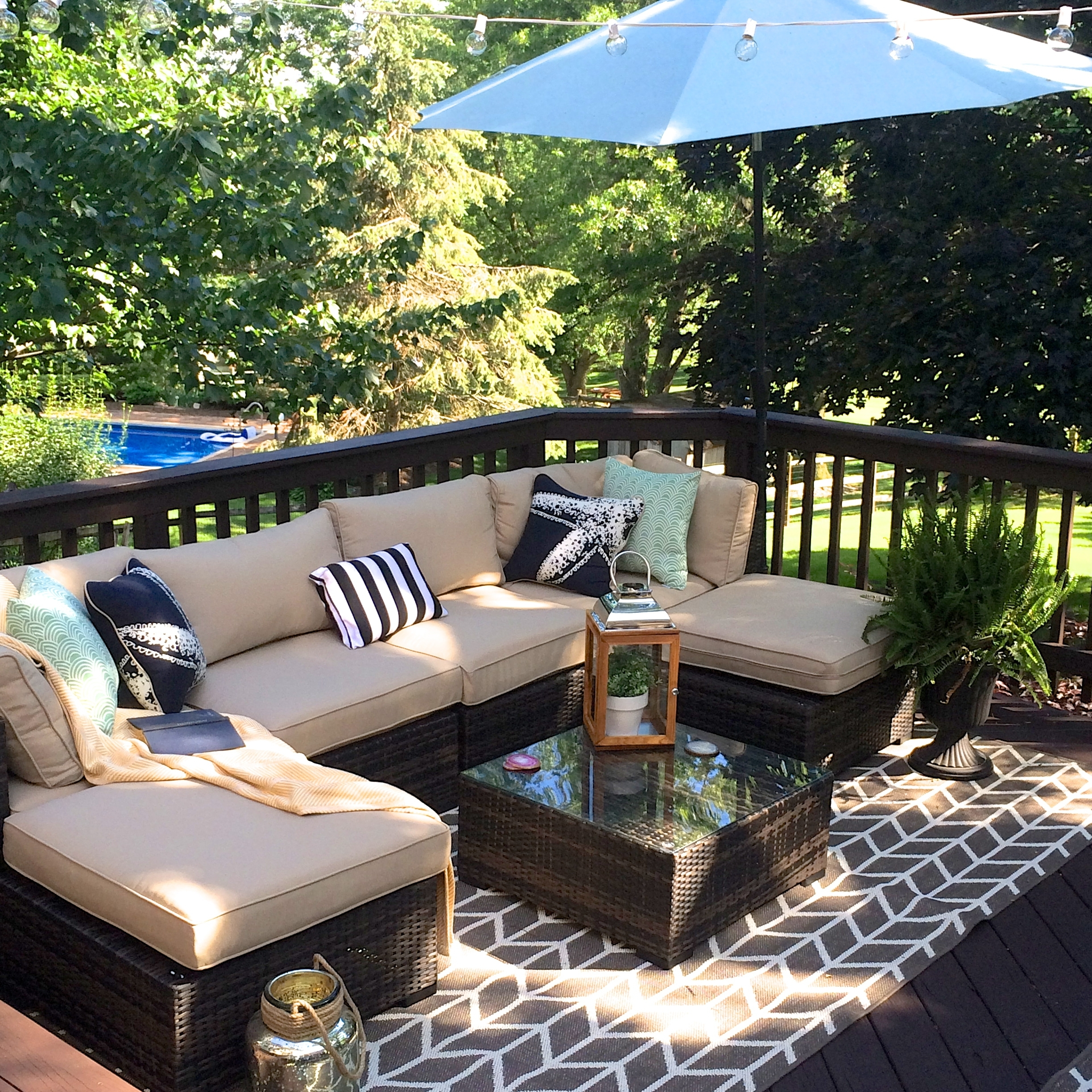 Image of: Our Outdoor Living Room Diy Deck Makeover Reveal Making Lemonade Within Resort Outdoor Furniture Beautiful Resort Outdoor Furniture