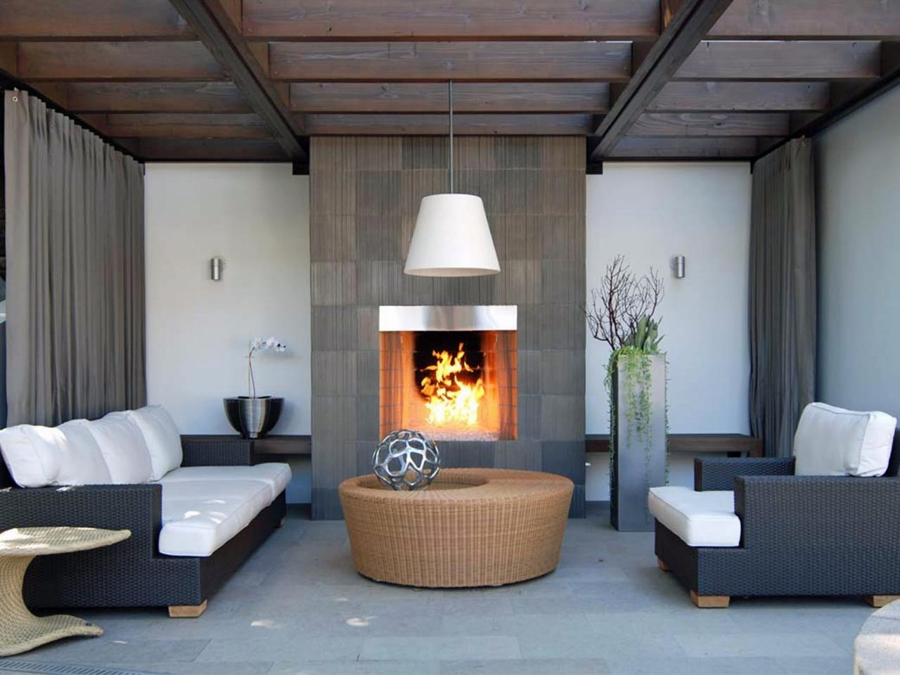Outdoor Electric Fireplace Options Hgtv Regarding Fake Outdoor Fireplace Build Fake Outdoor Fireplace
