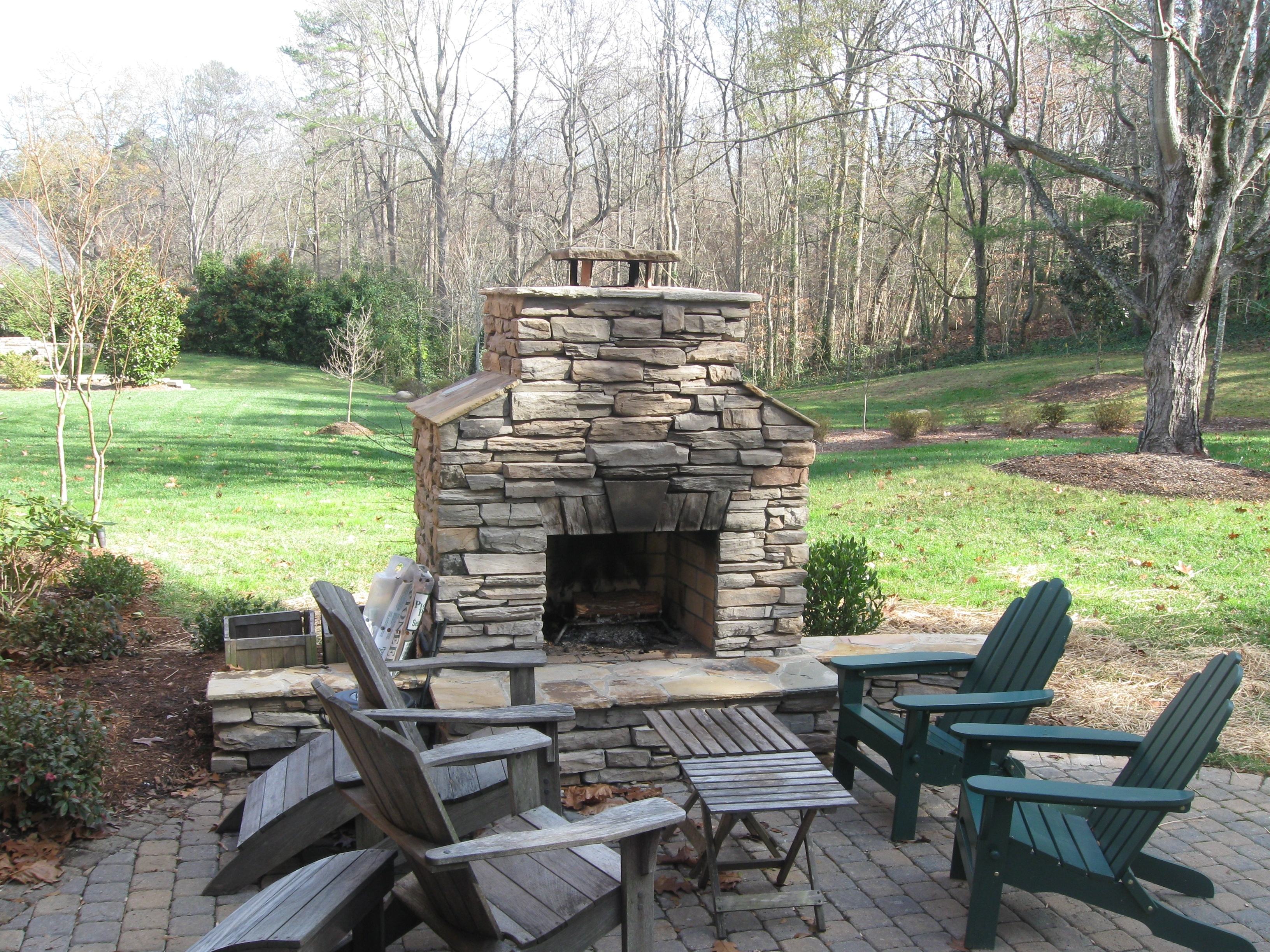 Image of: Outdoor Fireplace Archadeck Of Charlotte For Masonry Outdoor Fireplace The Right Options For Masonry Outdoor Fireplace