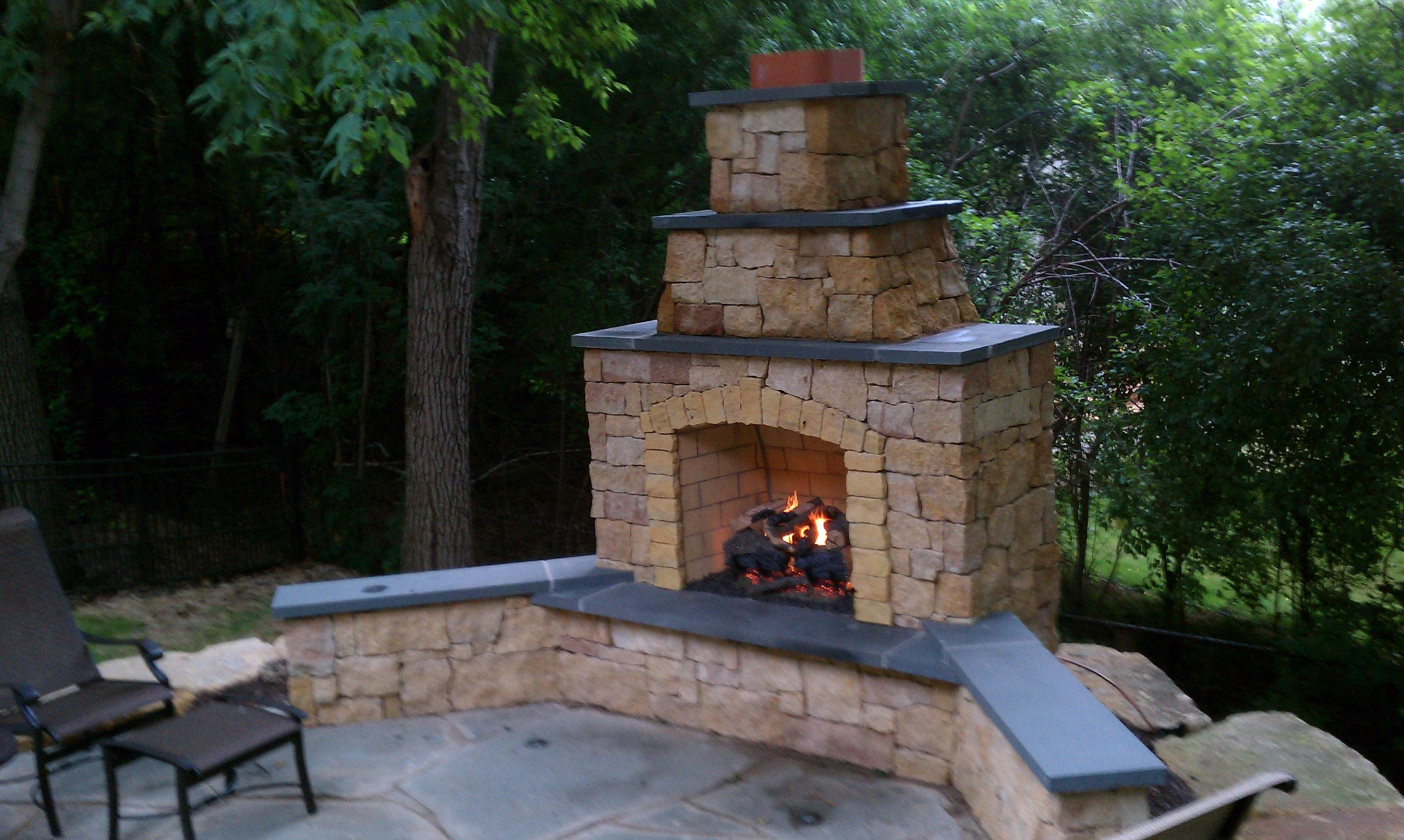 Image of: Outdoor Fireplace Chimney With Outdoor Fireplace Flue Cleaning Guide