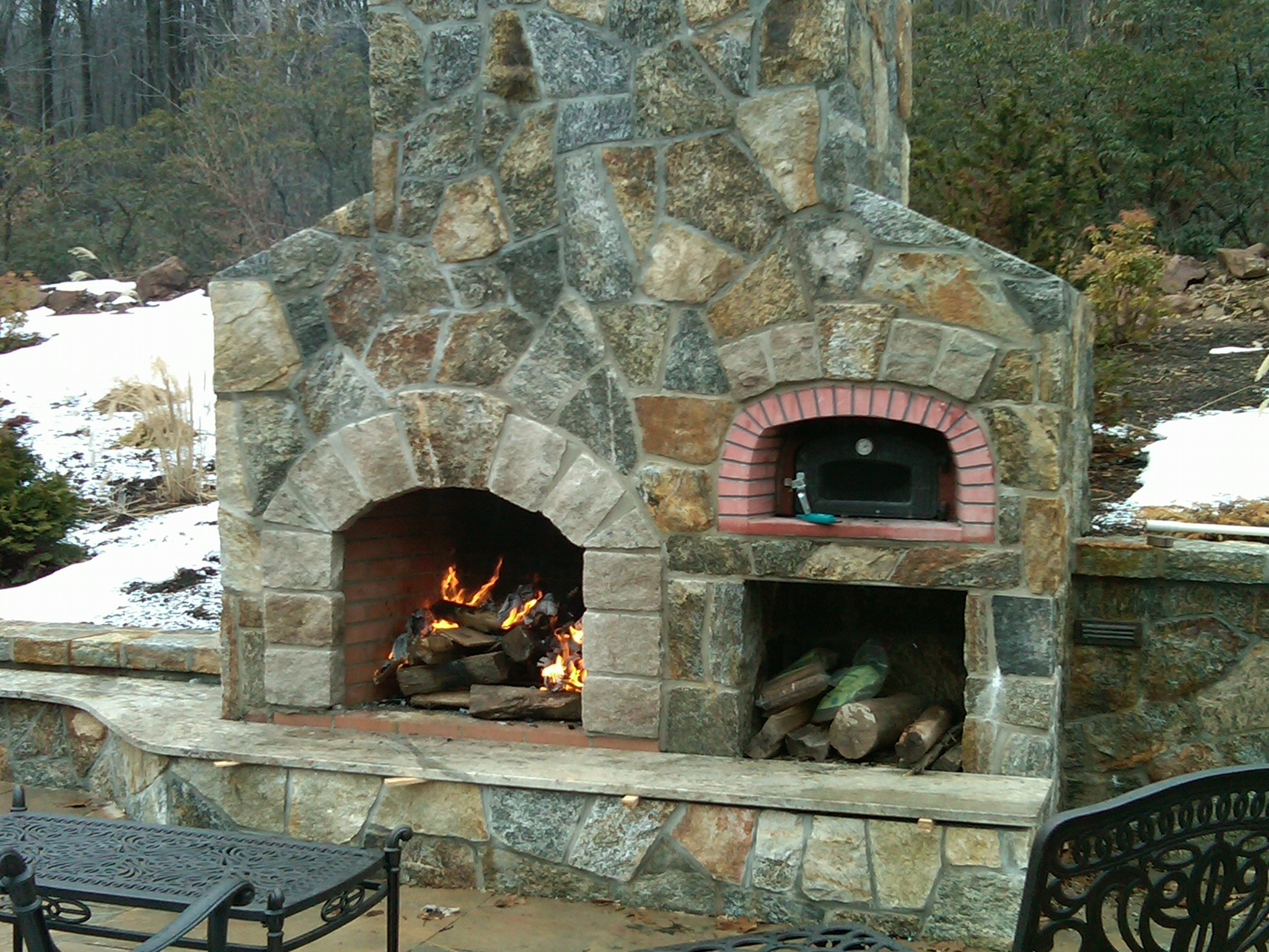 Image of: Unique Hardscape Design Intended For Outdoor Fireplace Flue Cleaning Guide