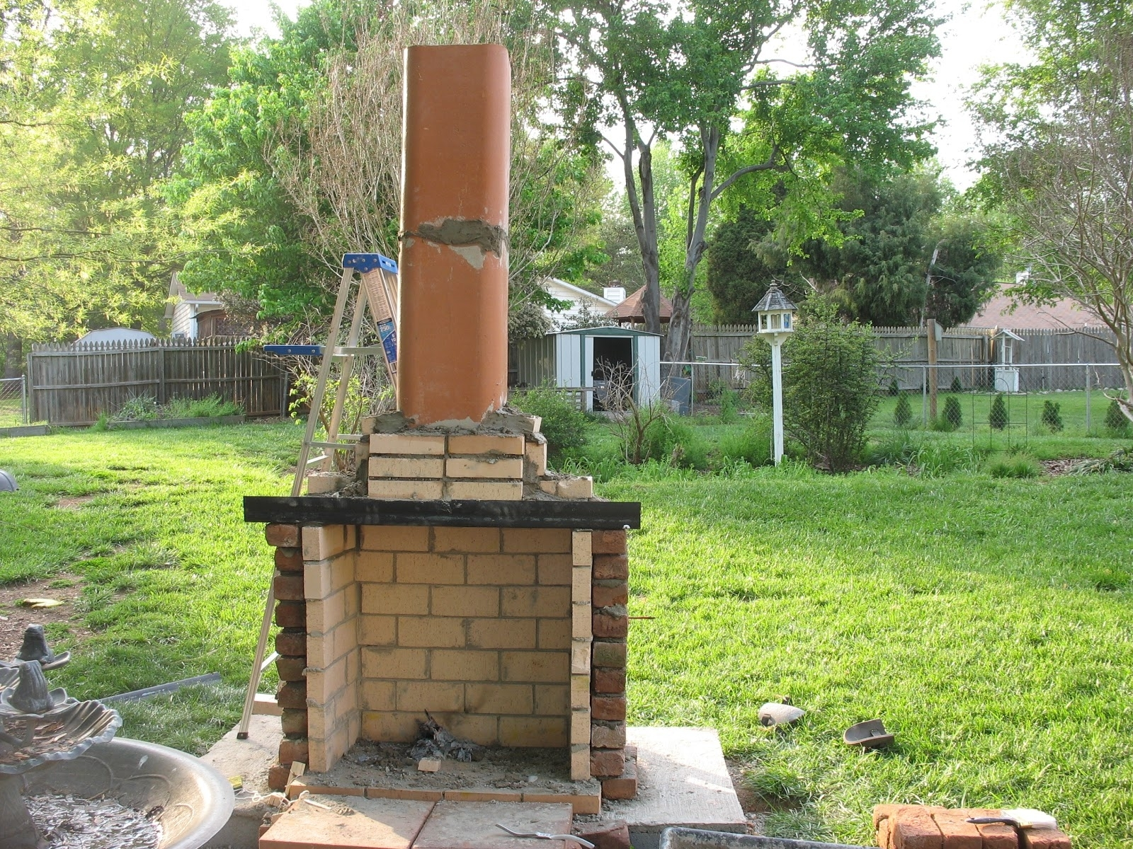 Image of: Flue Rolitz Outdoor Fireplace Flue Cleaning Guide