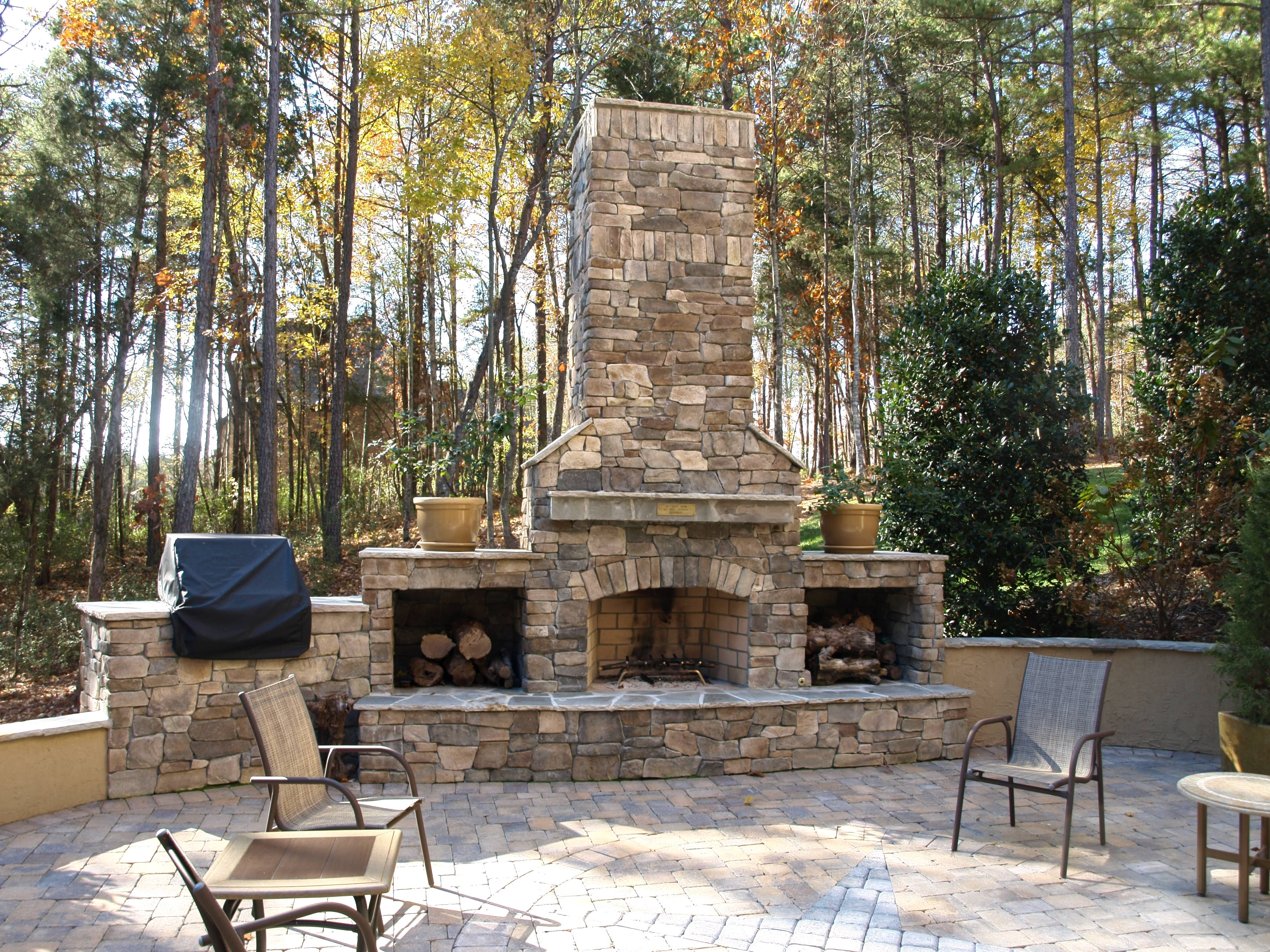 Outdoor Fireplace Kits Gallery Home Fixtures Decoration Ideas Throughout Masonry Outdoor Fireplace The Right Options For Masonry Outdoor Fireplace