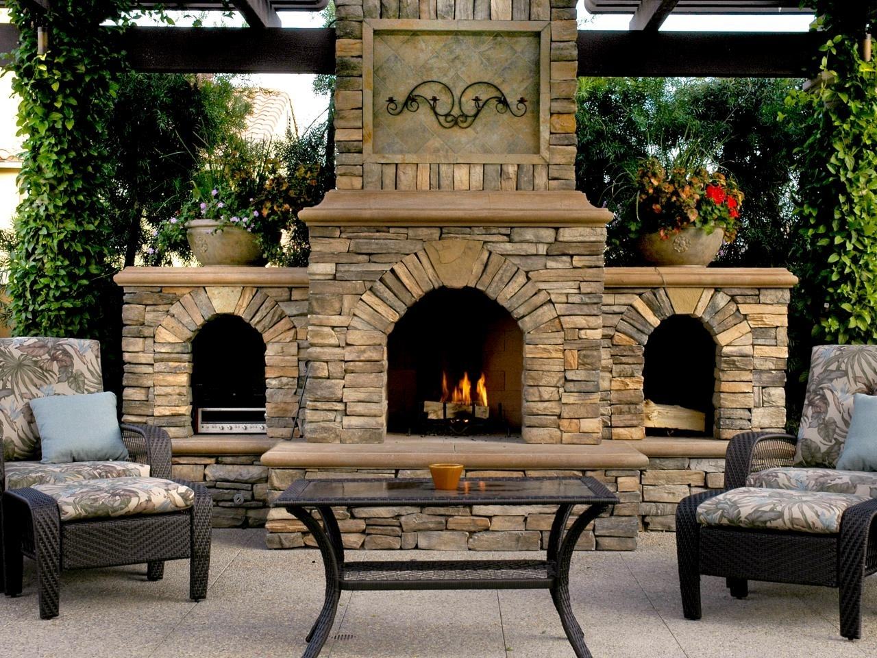 Outdoor Fireplaces Wood Burning Crafts Home With Regard To Outdoor Wood Fireplace Design Outdoor Wood Fireplace Designs