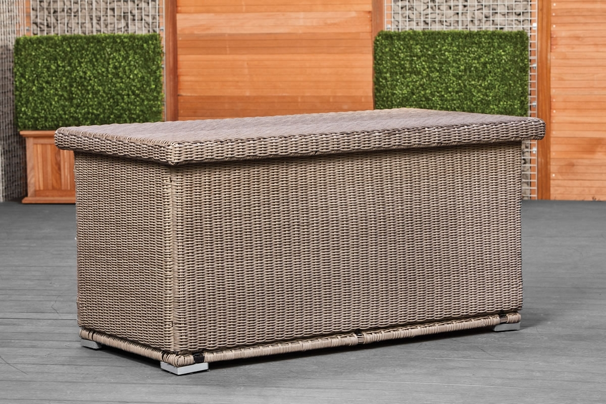 Image of: Outdoor Garden Cushion Box Bagnolet Intended For Cushion Boxes Outdoor Furniture How To Buy Cushion Boxes Outdoor Furniture