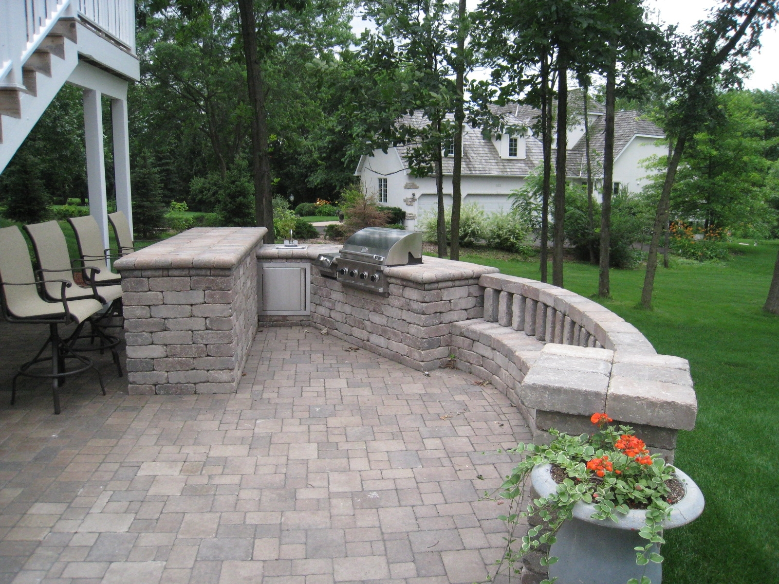Image of: Outdoor Garden Design Decorative Natty Unilock Pavers For Intended For Unilock Outdoor Kitchens Decorate Unilock Outdoor Kitchens