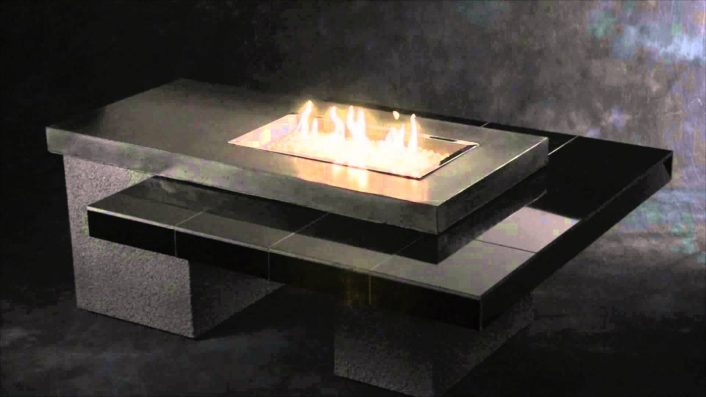 Outdoor Great Room Uptown Fire Pit Table With Tiled Table Top And Pertaining To Outdoor Fireplace Burner Outdoor Fireplace Burner Clan