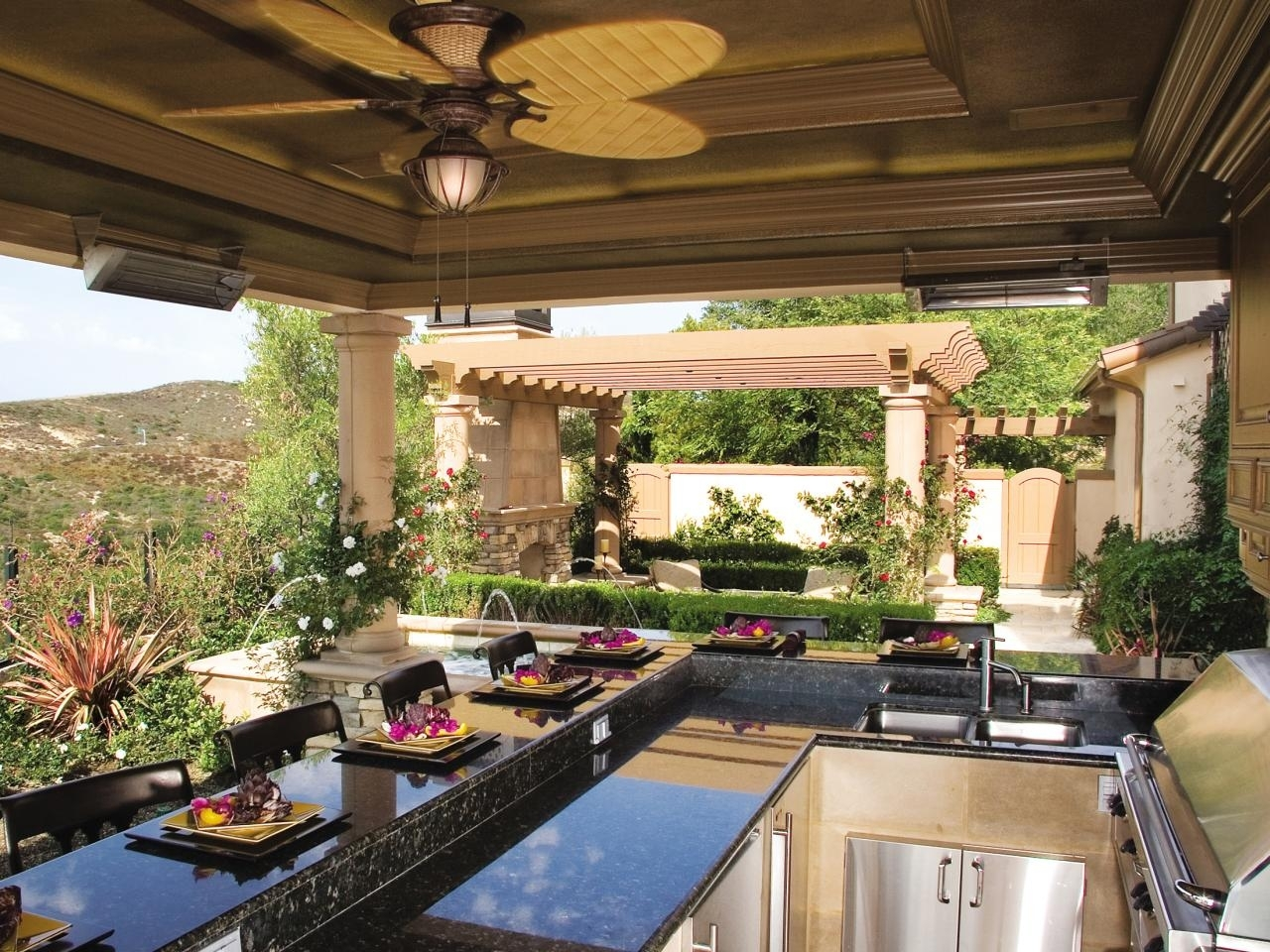 Image of: Outdoor Kitchen Countertops Options Hgtv Throughout Outdoor Kitchen Wood Countertops Nice Outdoor Kitchen Wood Countertops Inspiration