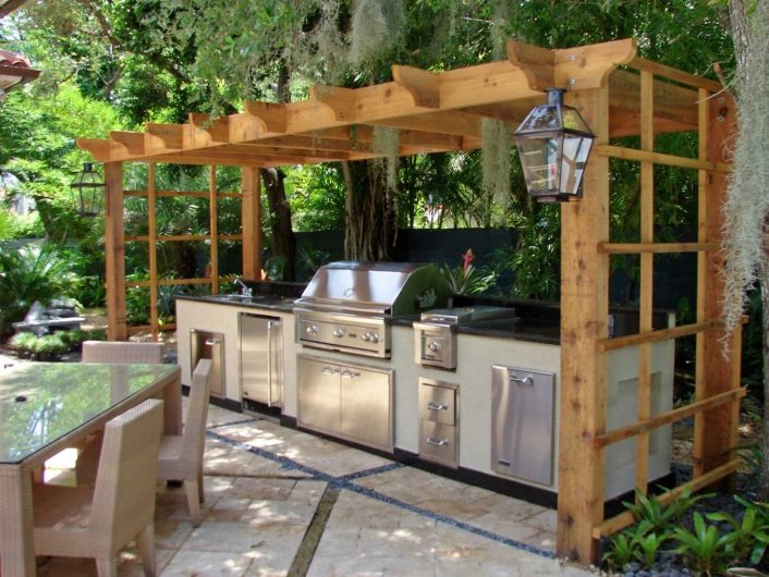 Outdoor Kitchen Ideas For Small Spaces Rustic Cabinets Rustic Wood In Outdoor Kitchen Wood Countertops Nice Outdoor Kitchen Wood Countertops Inspiration