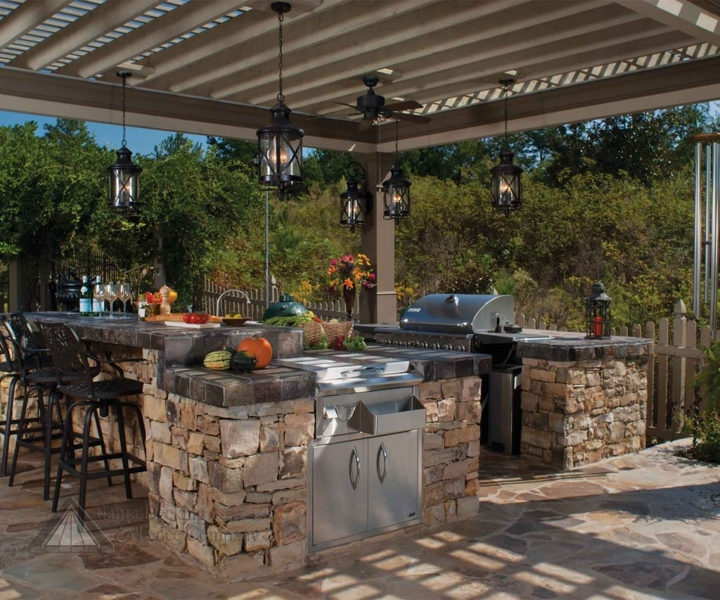 Image of: Outdoor Kitchen Ideas On A Budget Little House In The Valley For Outdoor Kitchen Wood Countertops Nice Outdoor Kitchen Wood Countertops Inspiration