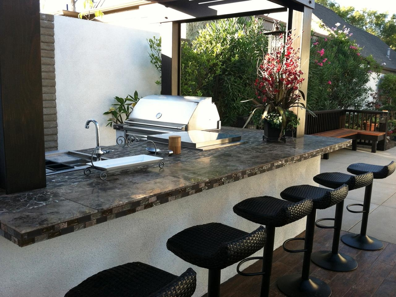 Image of: Outdoor Kitchen Islands Pictures Ideas Tips From Hgtv Hgtv Throughout Outdoor Kitchen Beverage Center Good Outdoor Kitchen Beverage Center