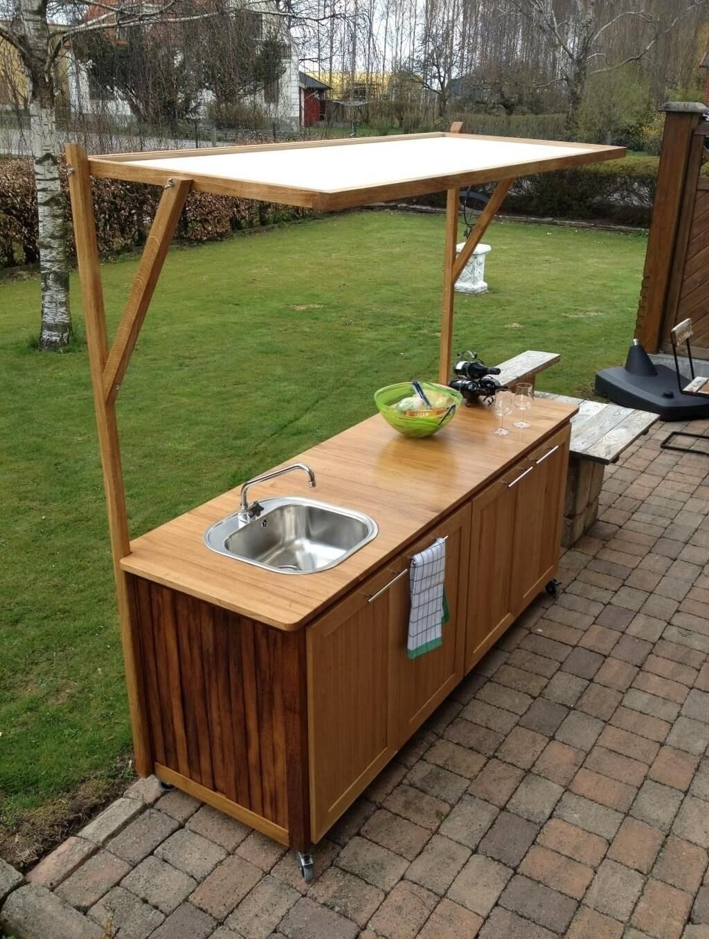 Image of: Outdoor Kitchen Sinks And Faucets Victoriaentrelassombras With Outdoor Kitchen Sink Drain Best Outdoor Kitchen Sink Drain Idea