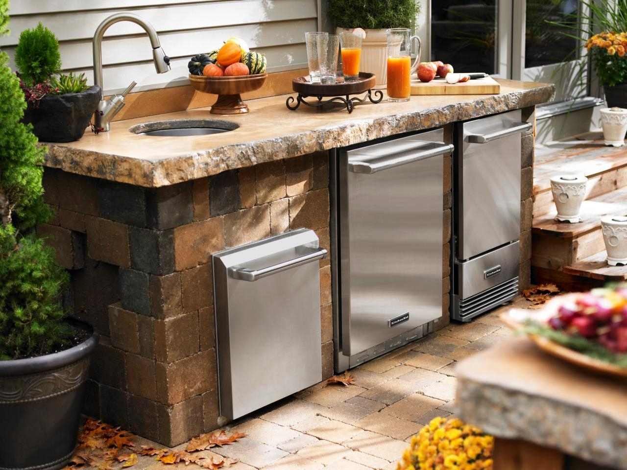 Image of: Outdoor Kitchen Sinks Pictures Tips Expert Ideas Hgtv Intended For Outdoor Kitchen Sink Drain Best Outdoor Kitchen Sink Drain Idea