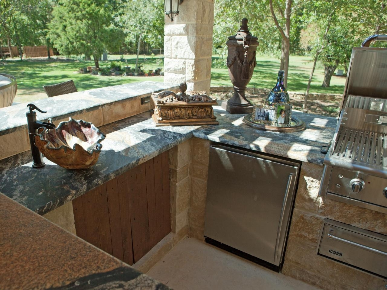 Image of: Outdoor Kitchen Sinks Pictures Tips Expert Ideas Hgtv Within Outdoor Kitchen Sink Drain Best Outdoor Kitchen Sink Drain Idea