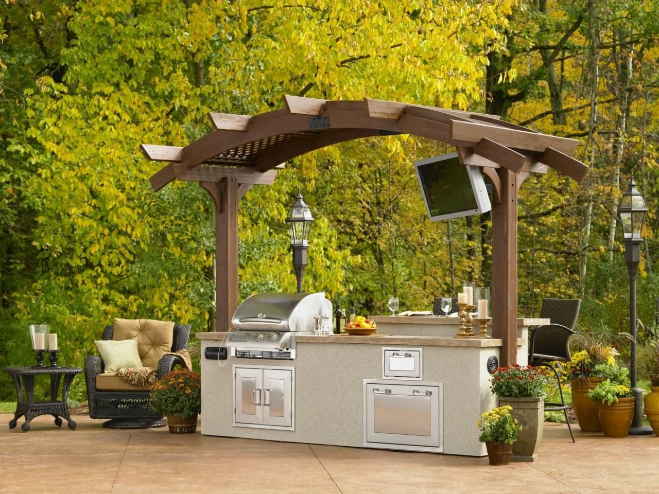 Image of: Outdoor Kitchen With Roof And Island Outdoor Kitchen Island Add Regarding Outdoor Kitchen Roofs Outdoor Kitchen Roofs Painting
