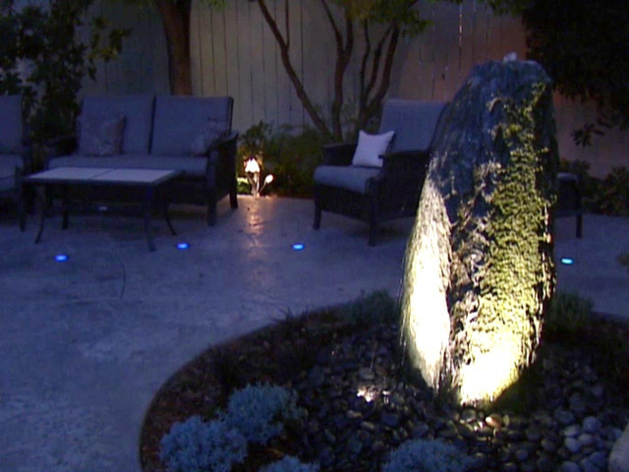 Image of: Outdoor Landscape Lighting Hgtv With Regard To Landscape Spotlights Wonderful Landscape Spotlights At Night