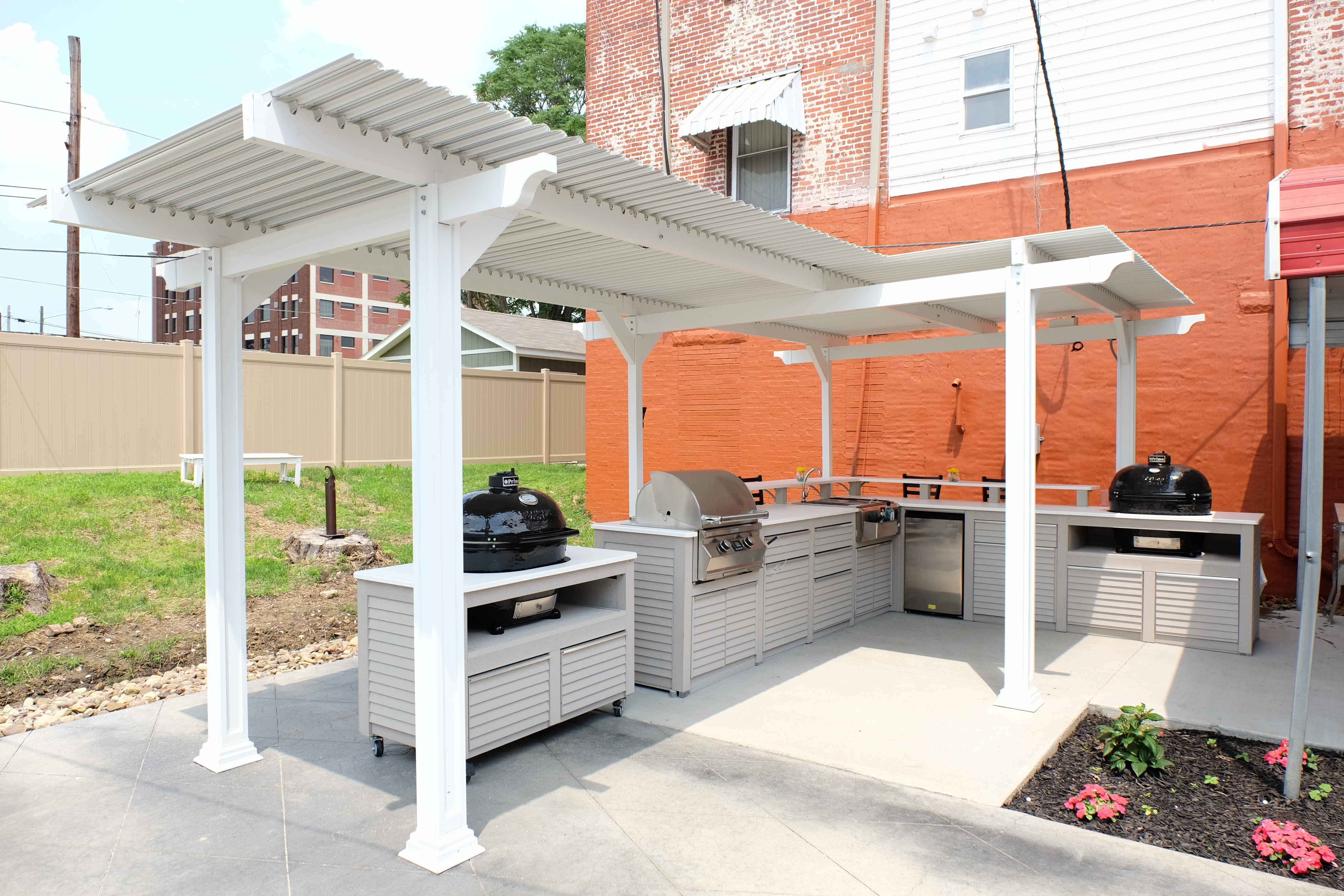 Image of: Outdoor Living Products Pertaining To Outdoor Kitchen Roofs Outdoor Kitchen Roofs Painting