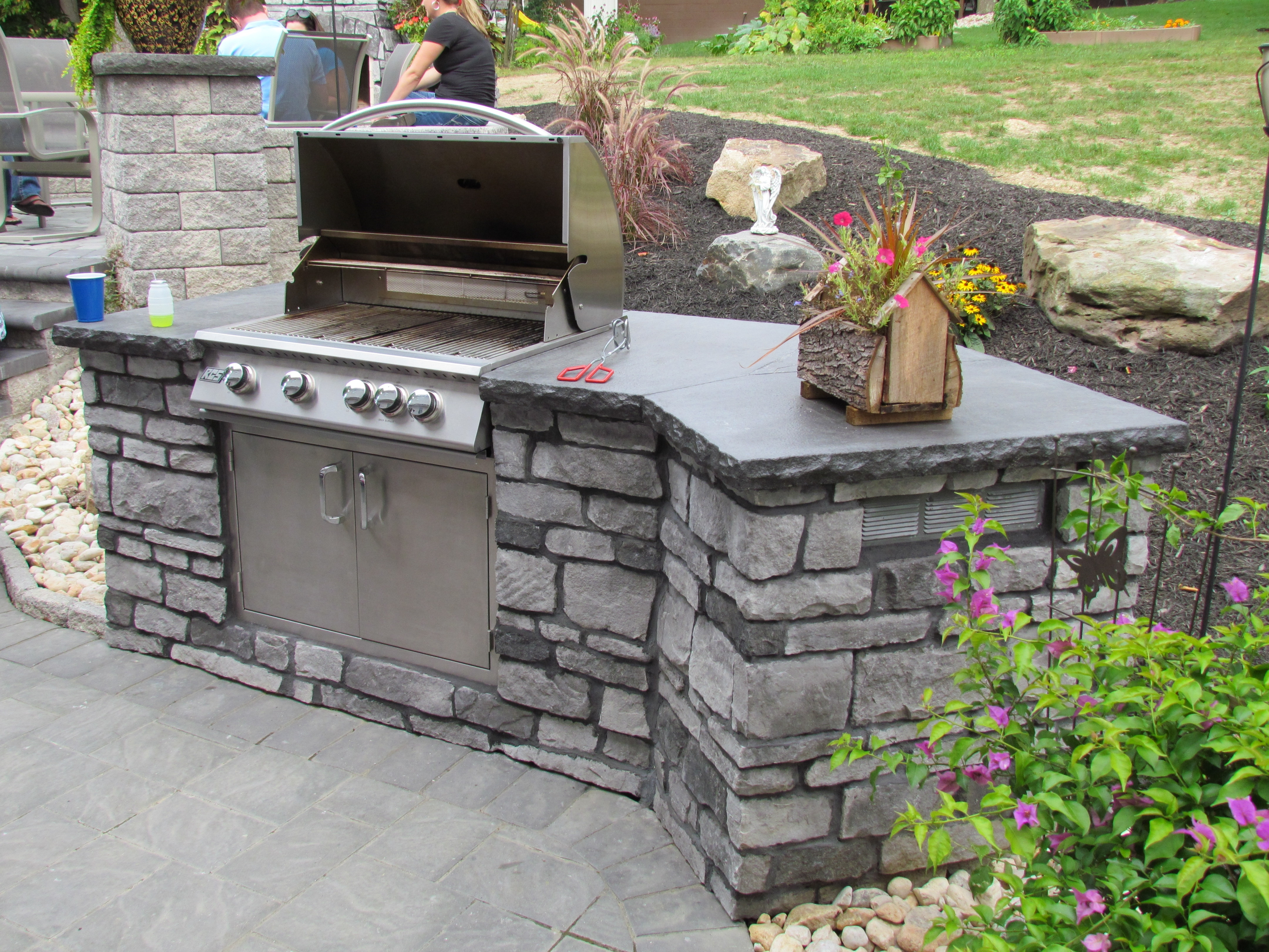Image of: Outdoor Pizza Ovens Fireplaces Firepits Chimineas Graber In Eldorado Stone Outdoor Kitchen Eldorado Stone Outdoor Kitchen