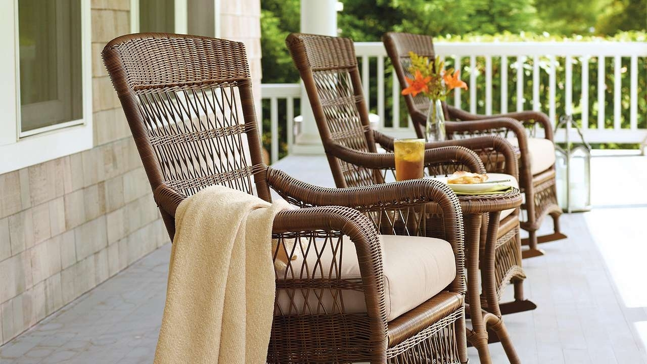 Image of: Outdoor Rocking Chair Cushions Helpformycredit Pertaining To Outdoor Rocking Chairs With Cushions Good Outdoor Rocking Chairs With Cushions